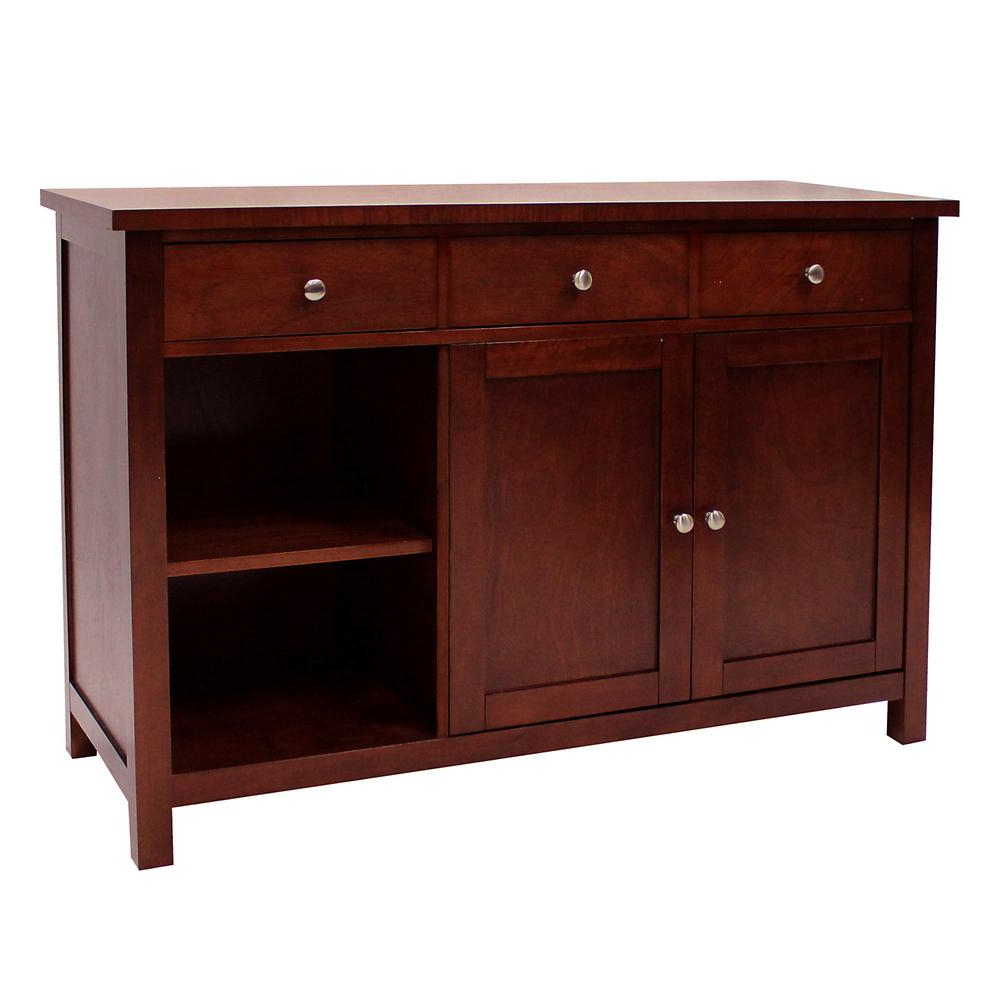 Donnieann Oakdale Cherry Buffet 605118 – The Home Depot With Sideboards By Wildon Home (View 12 of 20)