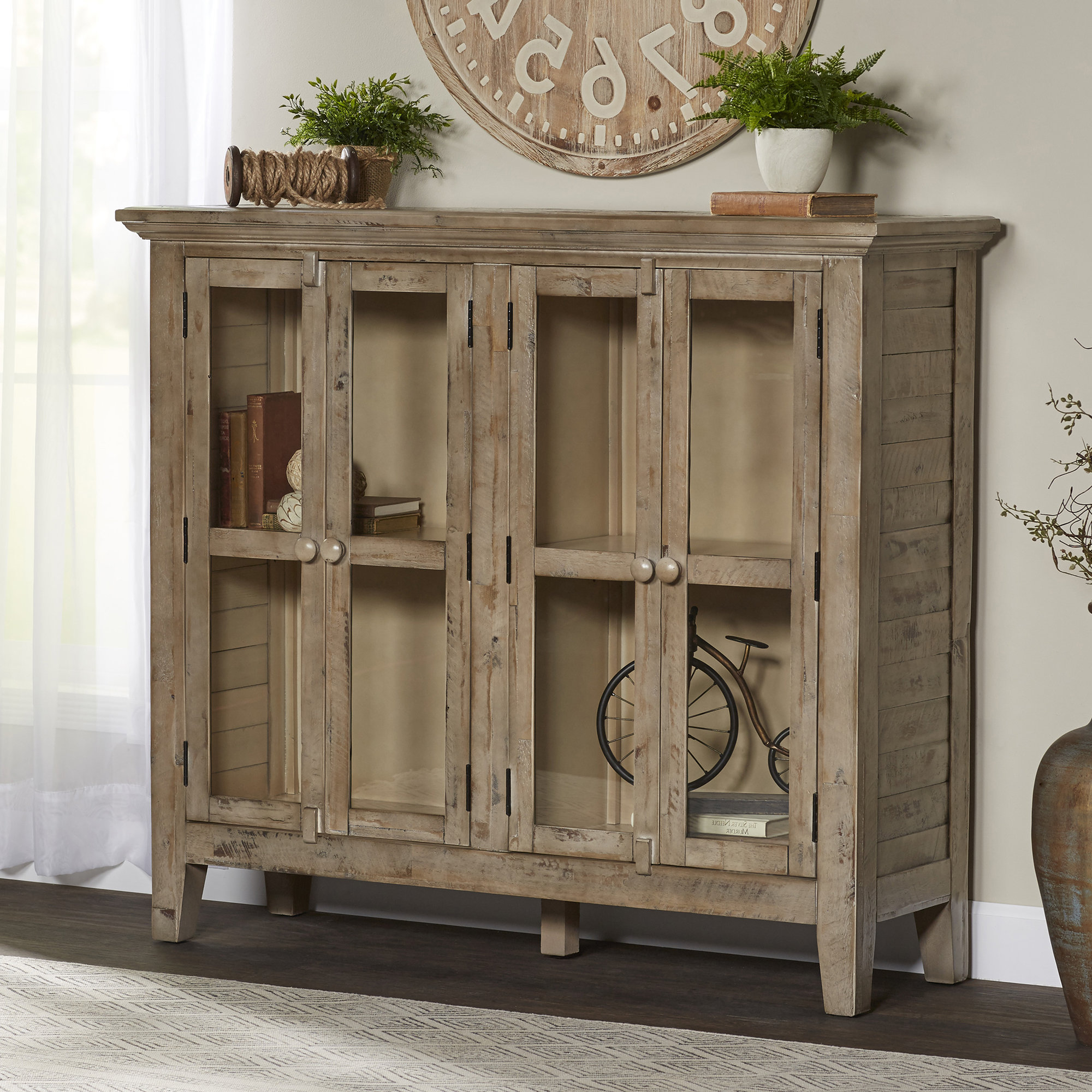 Eau Claire 4 Door Accent Cabinet Regarding Eau Claire 6 Door Accent Cabinets (View 6 of 20)