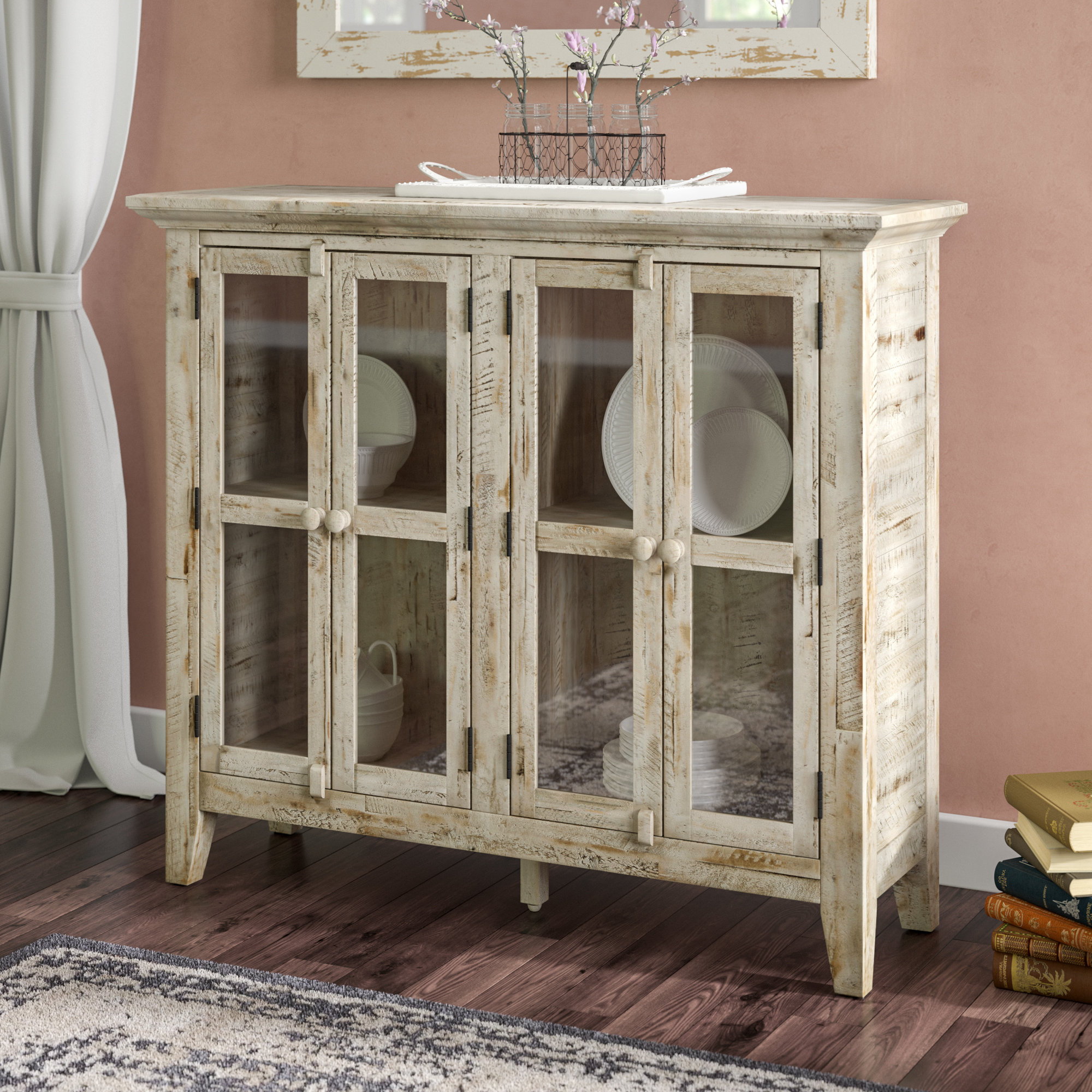 Eau Claire 4 Door Accent Cabinet With Eau Claire 6 Door Accent Cabinets (View 7 of 20)