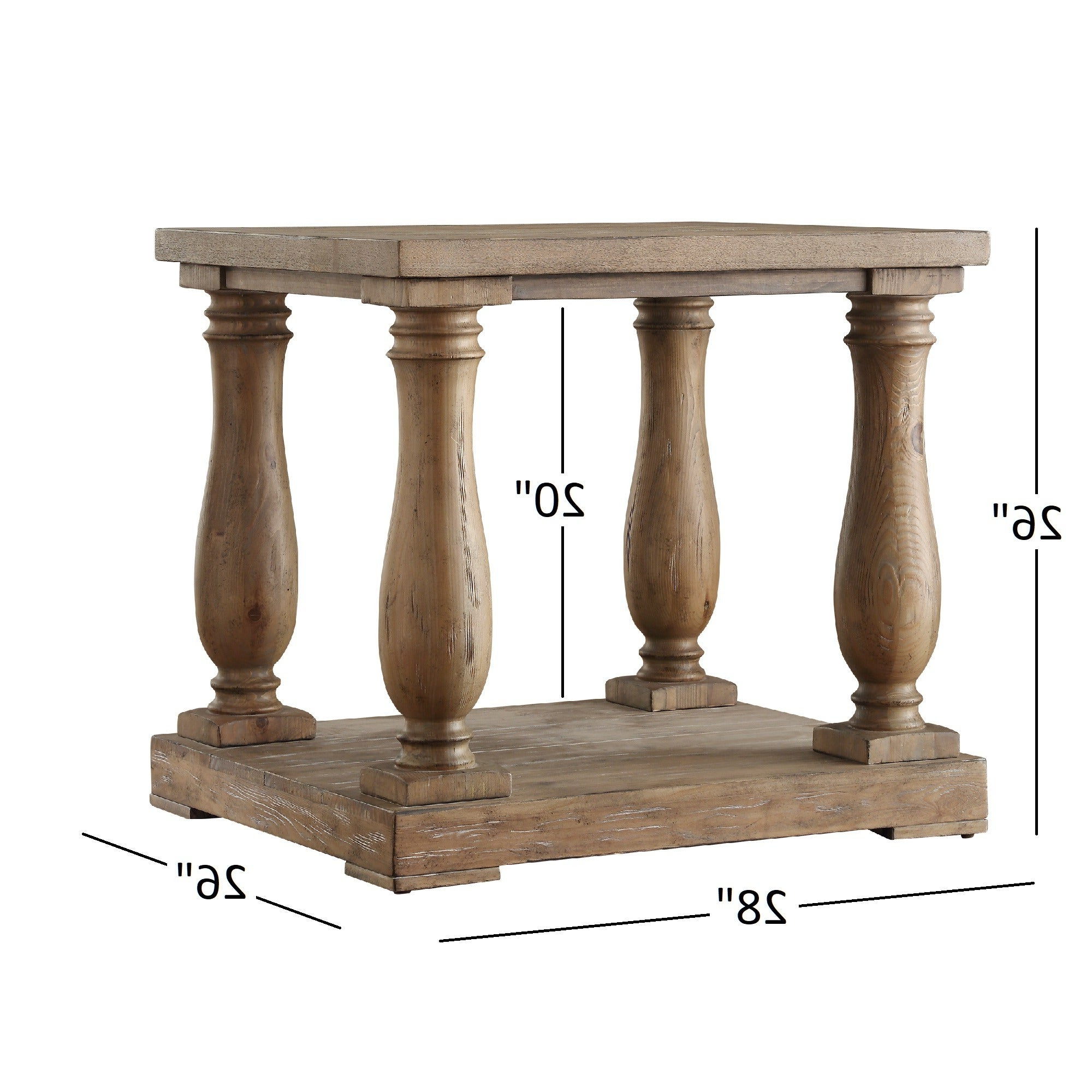 Edmaire Rustic Pine Baluster 3 Piece Table Setinspire Q Artisan With Regard To Widely Used Edmaire Rustic Pine Baluster Coffee Tables (Gallery 17 of 20)