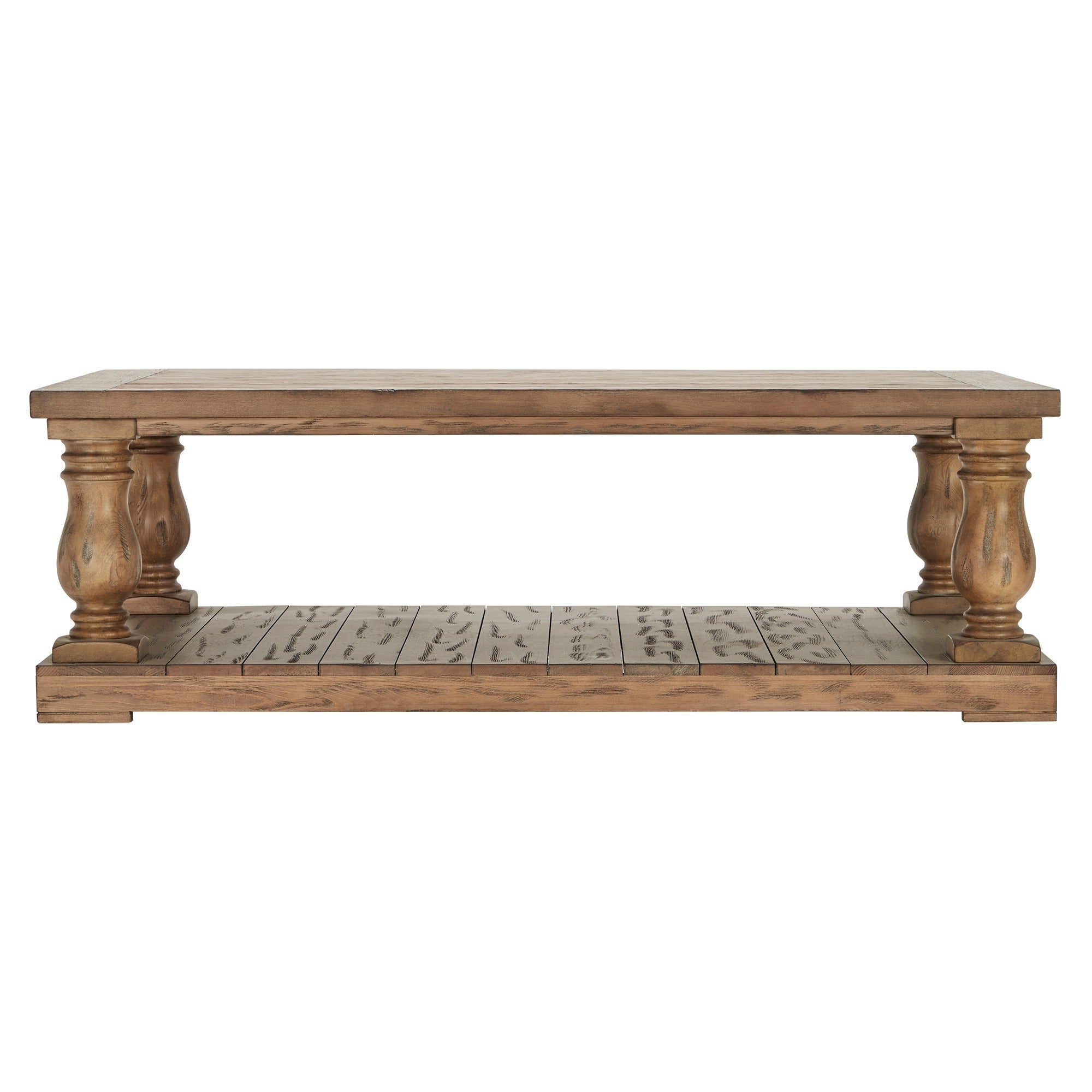 Edmaire Rustic Pine Baluster 55 Inch Coffee Tableinspire Q Artisan With Newest Edmaire Rustic Pine Baluster Coffee Tables (Gallery 7 of 20)