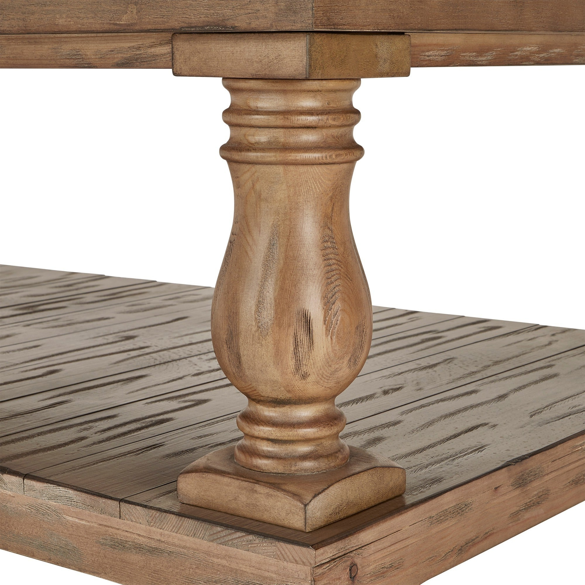 Edmaire Rustic Pine Baluster 55 Inch Coffee Tableinspire Q Artisan With Regard To Current Edmaire Rustic Pine Baluster Coffee Tables (View 9 of 20)