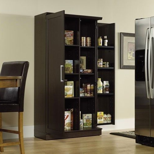 Eduarda Kitchen Pantry Pertaining To Fashionable Details About Kitchen Pantry Storage Cabinet Tall 5 Shelf  (View 9 of 20)
