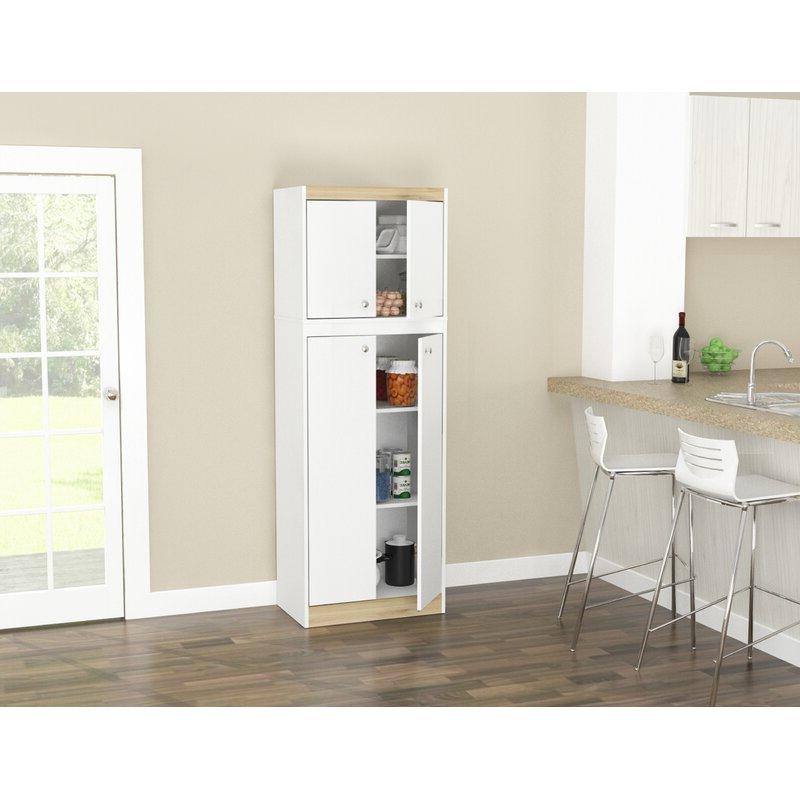 "Elliana 4 Door Storage 67"" Kitchen Pantry Within Well Known Elliana 4 Door Storage Kitchen Pantry (Gallery 1 of 20)"