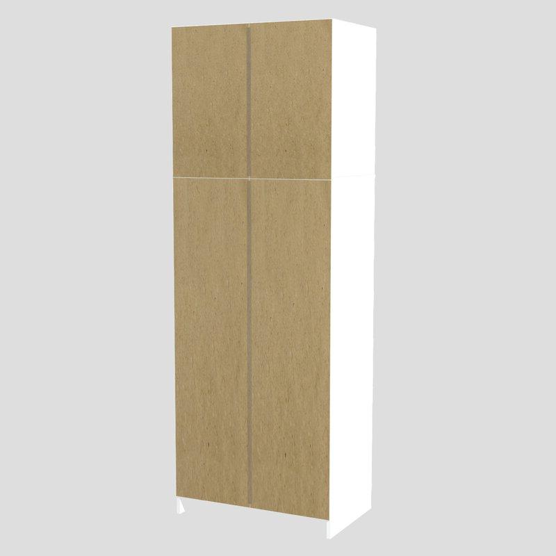 "Elliana 4 Door Storage Kitchen Pantry Throughout Favorite Elliana 4 Door Storage 67"" Kitchen Pantry (Gallery 8 of 20)"