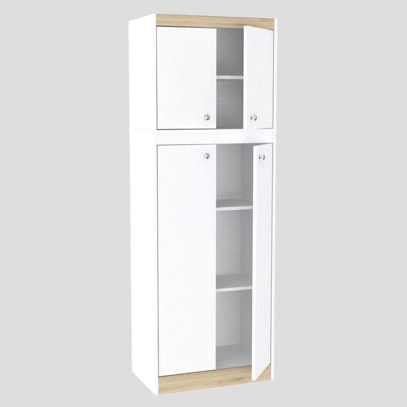 """Elliana 4 Door Storage Kitchen Pantry With Regard To Newest Elliana 4 Door Storage 67"""" Kitchen Pantry (Gallery 2 of 20)"""