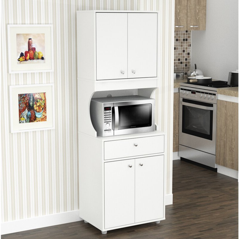 "Elliana Storage 71"" Kitchen Pantry In Well Known Blanken Kitchen Pantry (Gallery 6 of 20)"