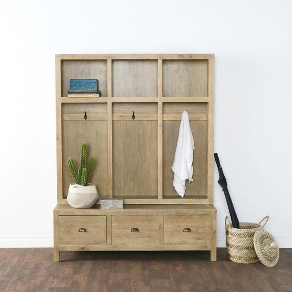 Elliana Storage Kitchen Pantry With Favorite Shop Sierra Hand Crafted Taupe Entryway Storage Bench (Gallery 8 of 20)