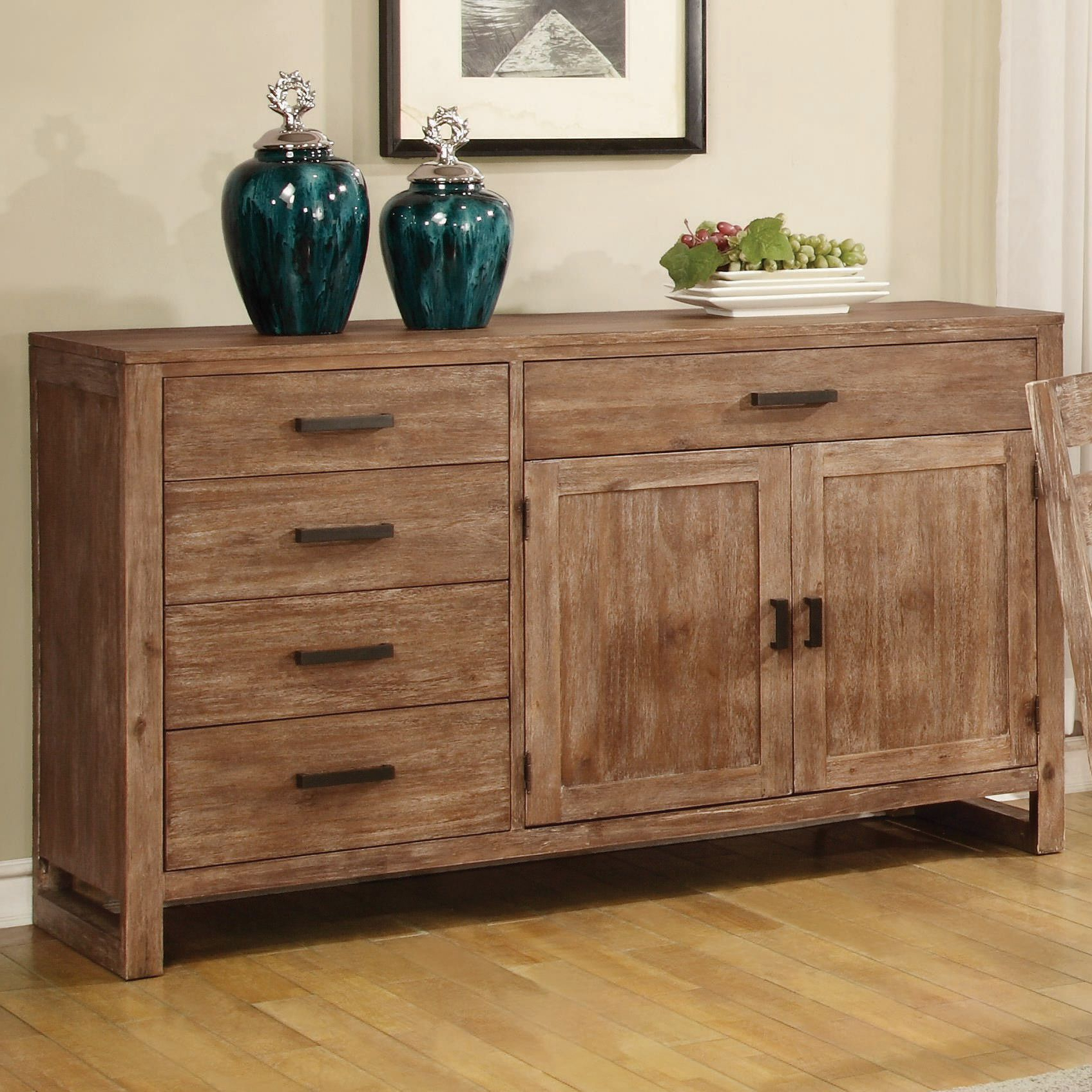 Elmwood Asymmetrical Server | Coaster Furniture | Home Inside Sideboards By Wildon Home (Gallery 9 of 20)