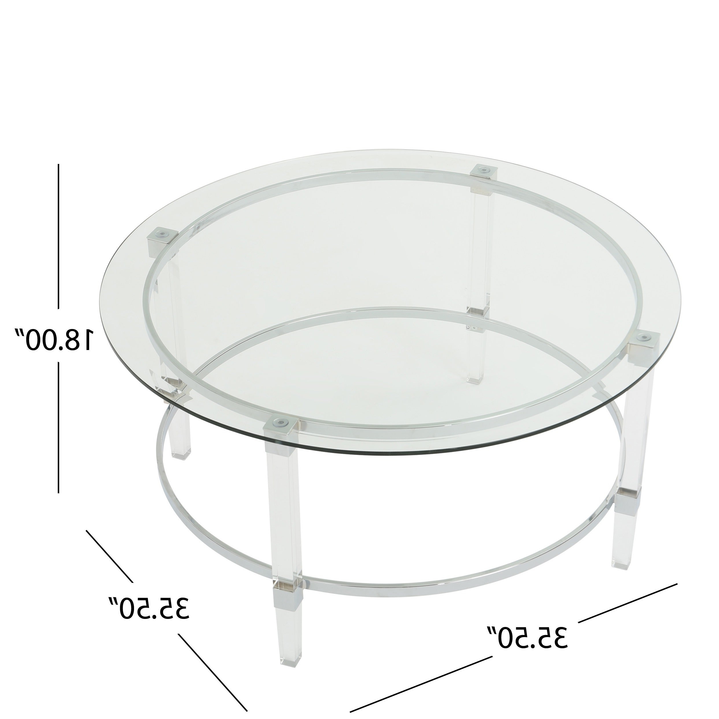 Elowen Round Glass Coffee Tablechristopher Knight Home Pertaining To Current Elowen Round Glass Coffee Tables (View 8 of 20)