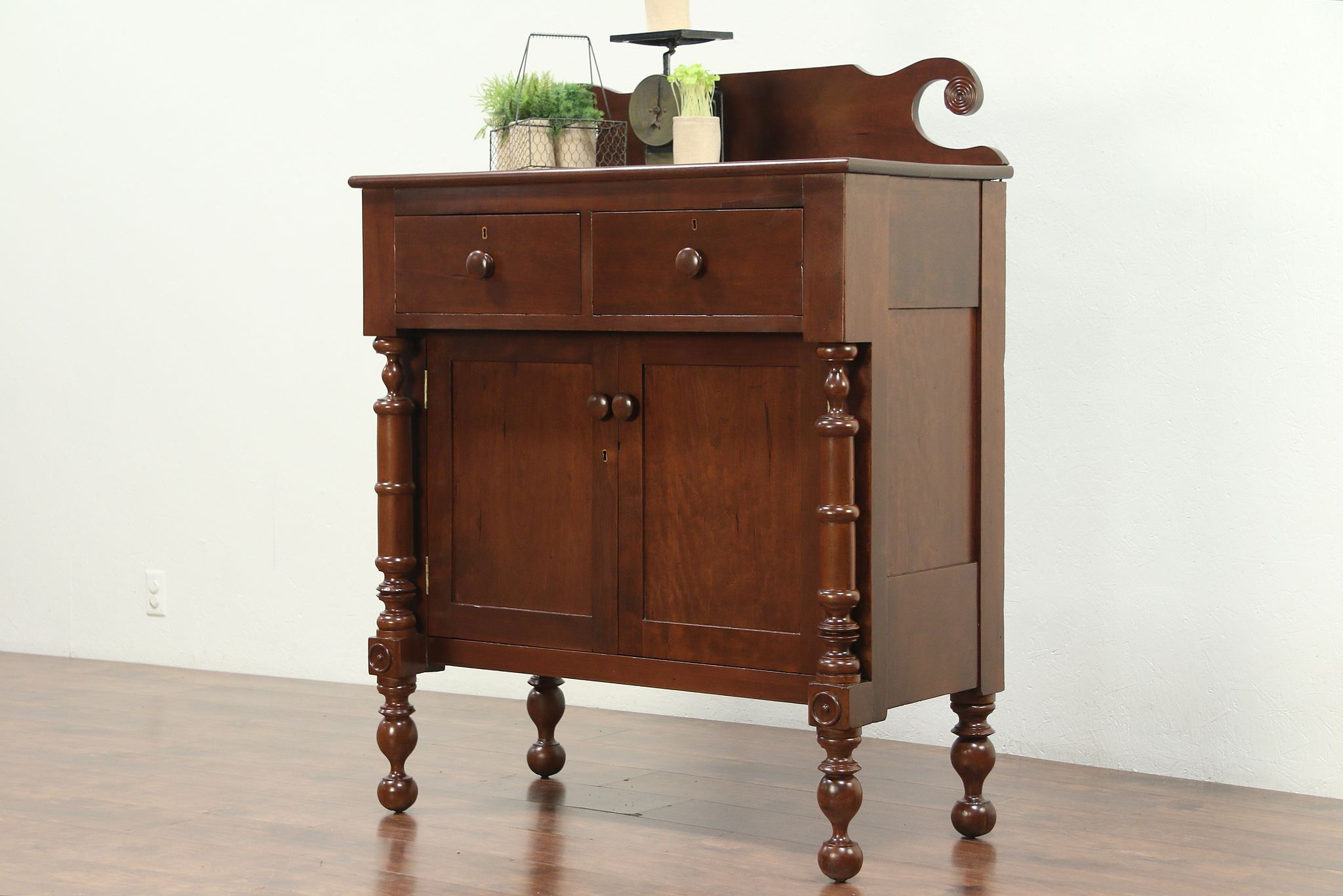 Empire 1825 Antique Cherry Sideboard Or Server #28938 In Cher Sideboards (Gallery 20 of 20)