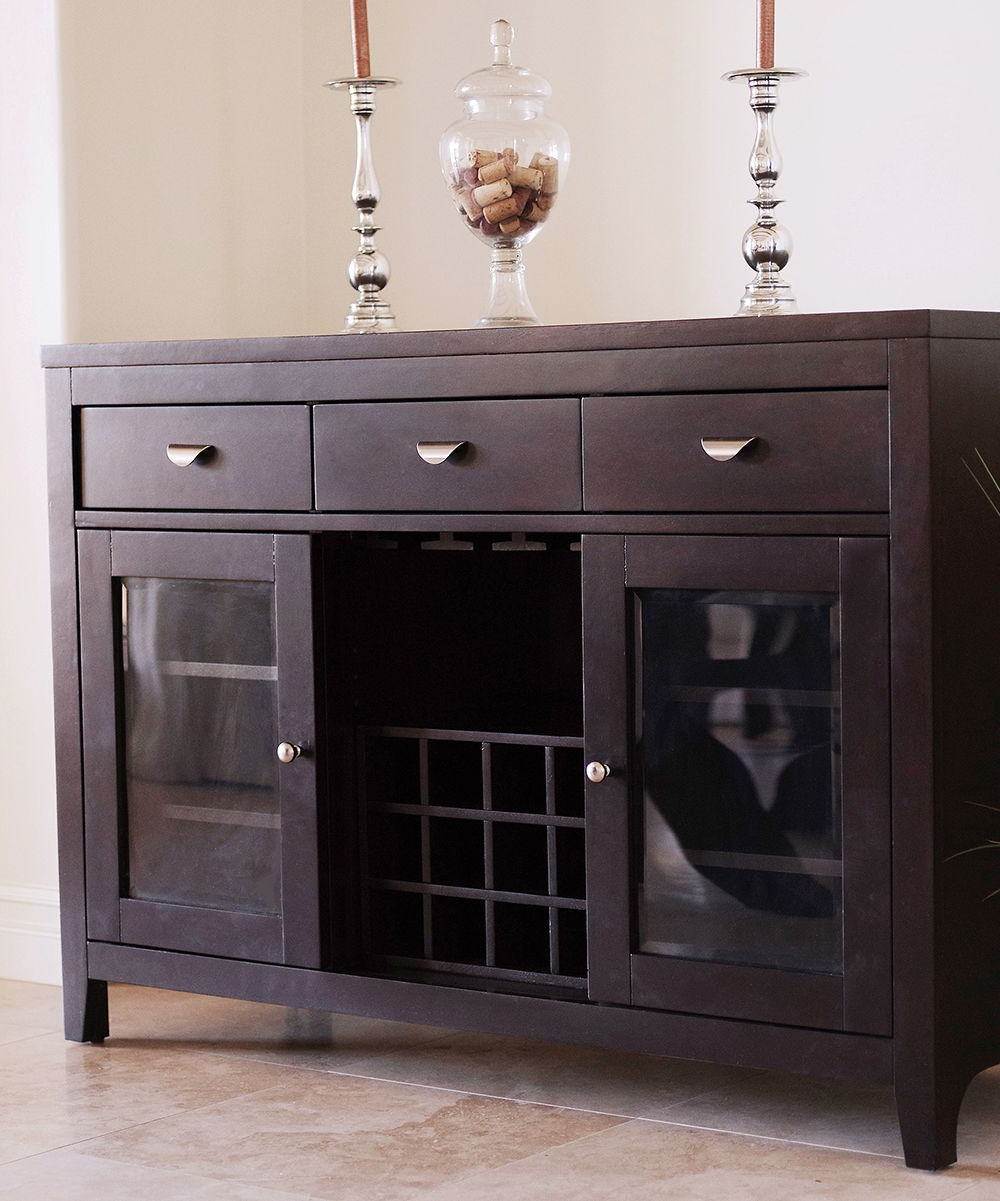 Espresso Belmont Dining Buffet Server | Products In 2019 Within Melange Brockton Sideboards (Gallery 20 of 20)