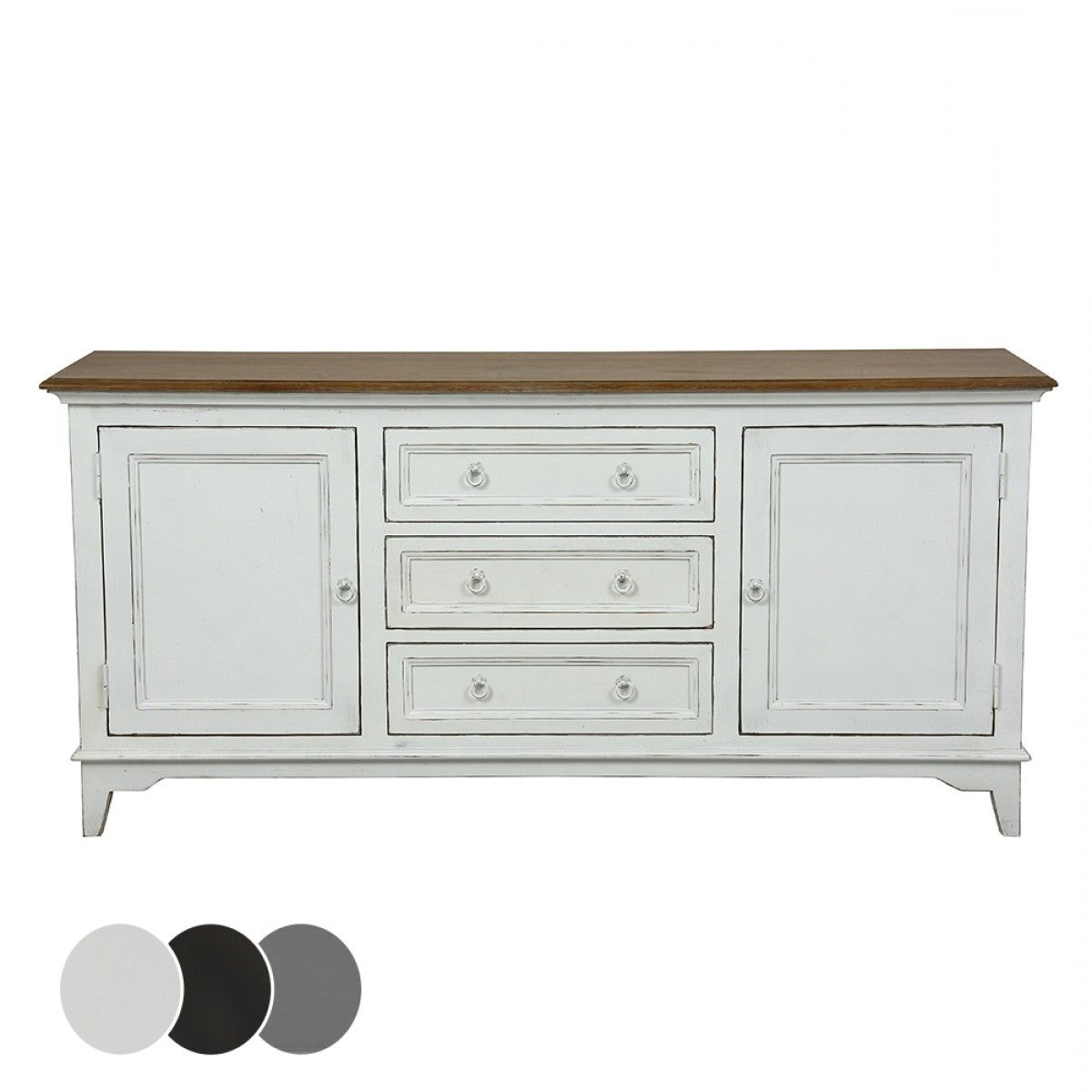 Esquisse 2 Door 3 Drawer Sideboard – Black – Buffets Intended For Emmaline Sideboards (View 12 of 20)
