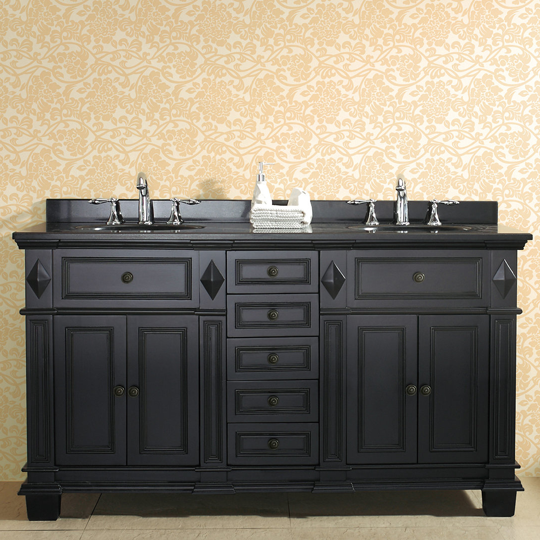 "Essex 60"" Double Bathroom Vanity Set For Arminta Wood Sideboards (Gallery 19 of 20)"