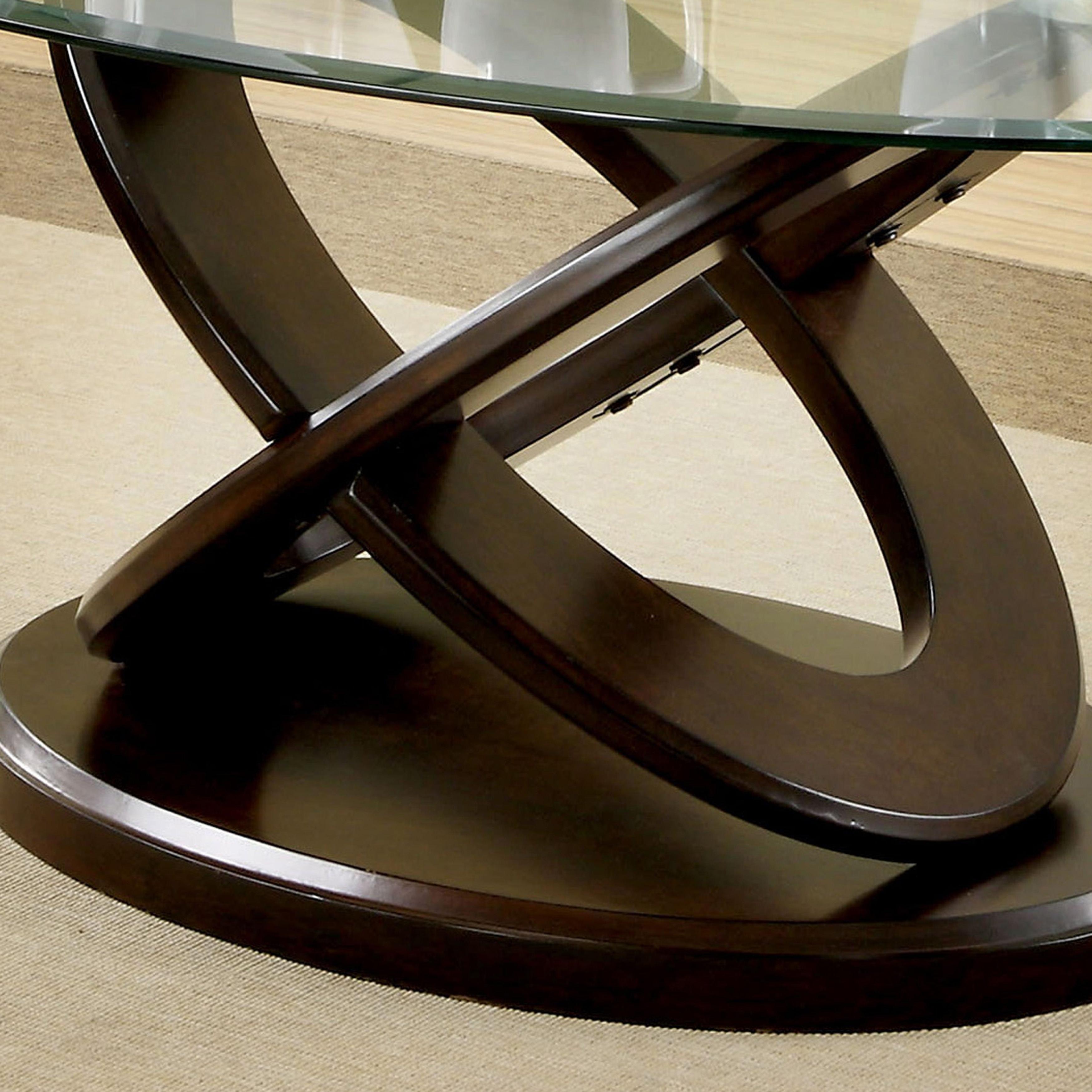 Evalline Modern Dark Walnut Coffee Tablefoa With Regard To Trendy Evalline Modern Dark Walnut Coffee Tables (View 6 of 20)