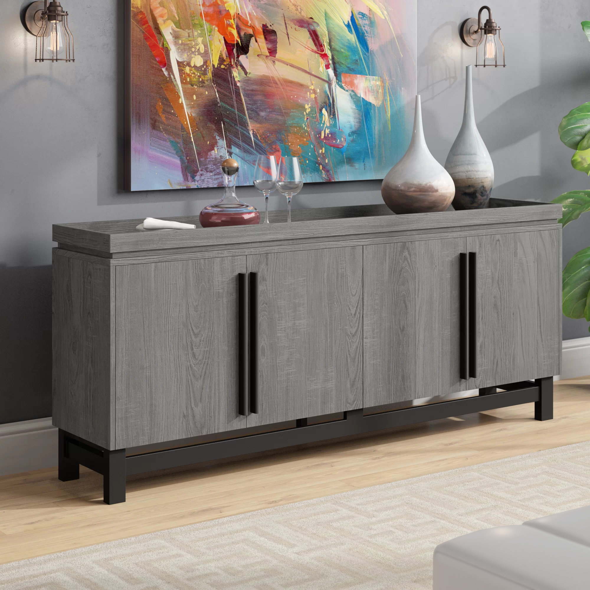 Extra Large Credenza | Wayfair With Regard To Barr Credenzas (Gallery 13 of 20)