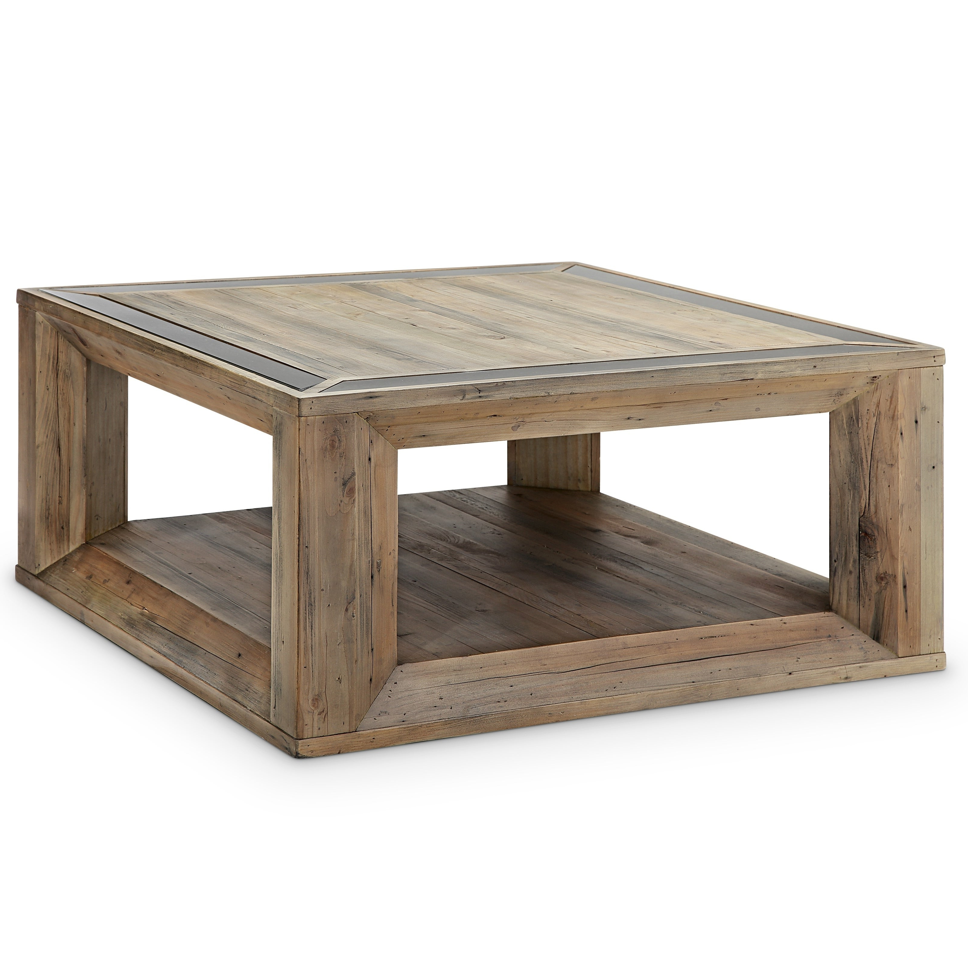 Famous 'hampton' Unfinished Solid Parawood Square Coffee Tables Inside Brunswick Farmhouse Square Coffee Table With Casters (View 16 of 20)