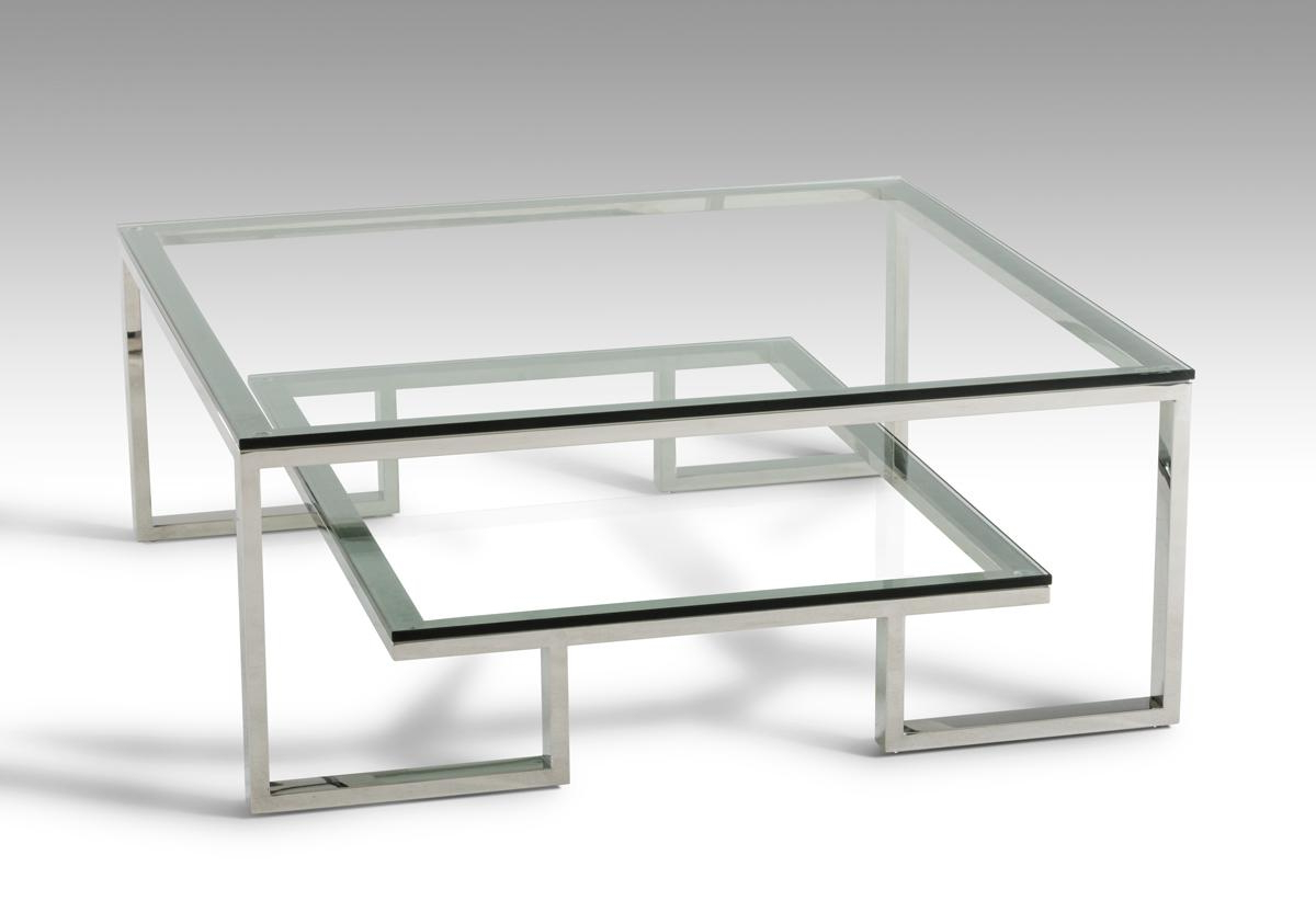 Famous Finbar Modern Rectangle Glass Coffee Tables Intended For Modrest Tide Modern Glass Coffee Table Dreamlivingscom (View 7 of 20)