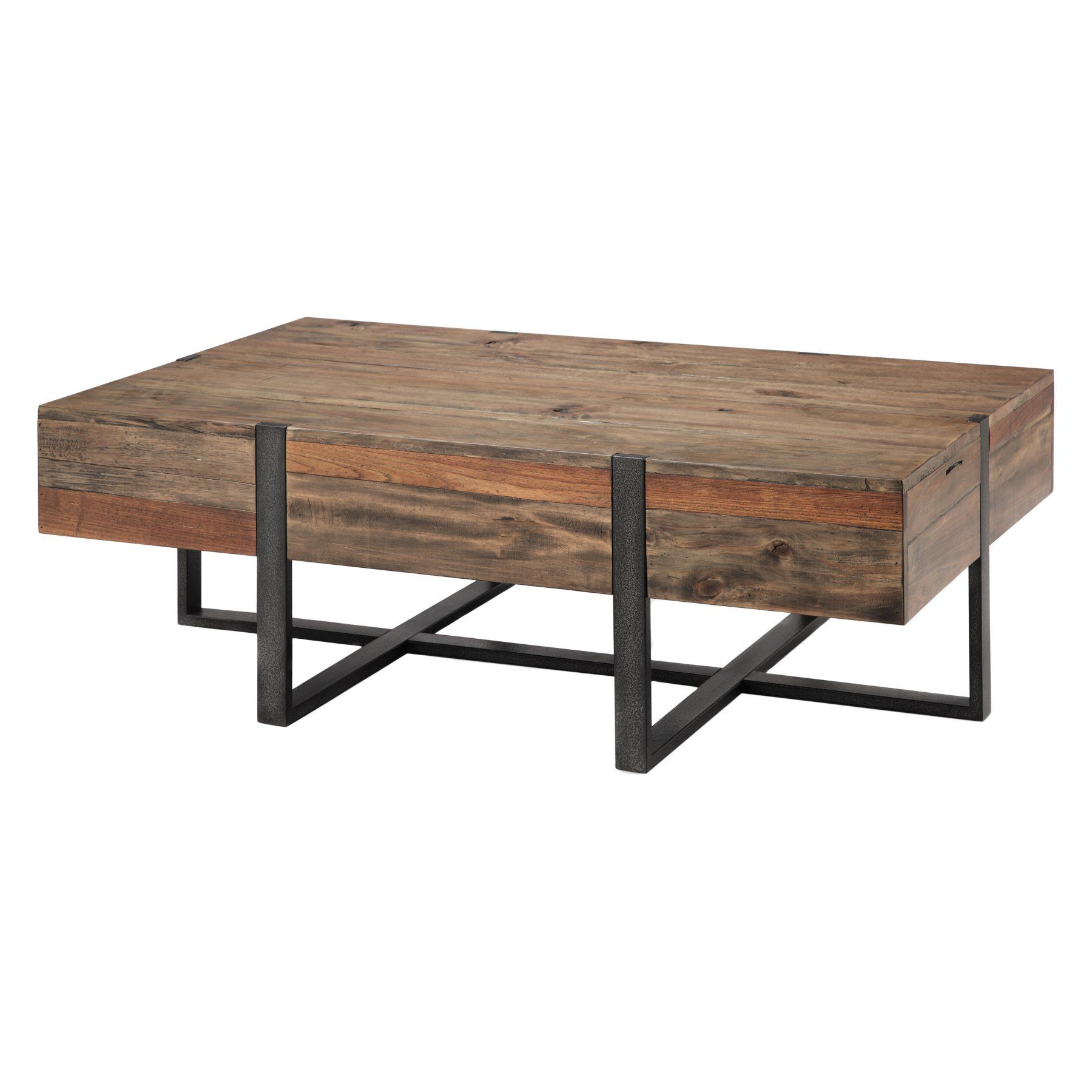 Famous Lockwood Rectangle Coffee Tables In Magnussen Prescott Reclaimed Wood Rectangular Coffee Table (View 8 of 20)