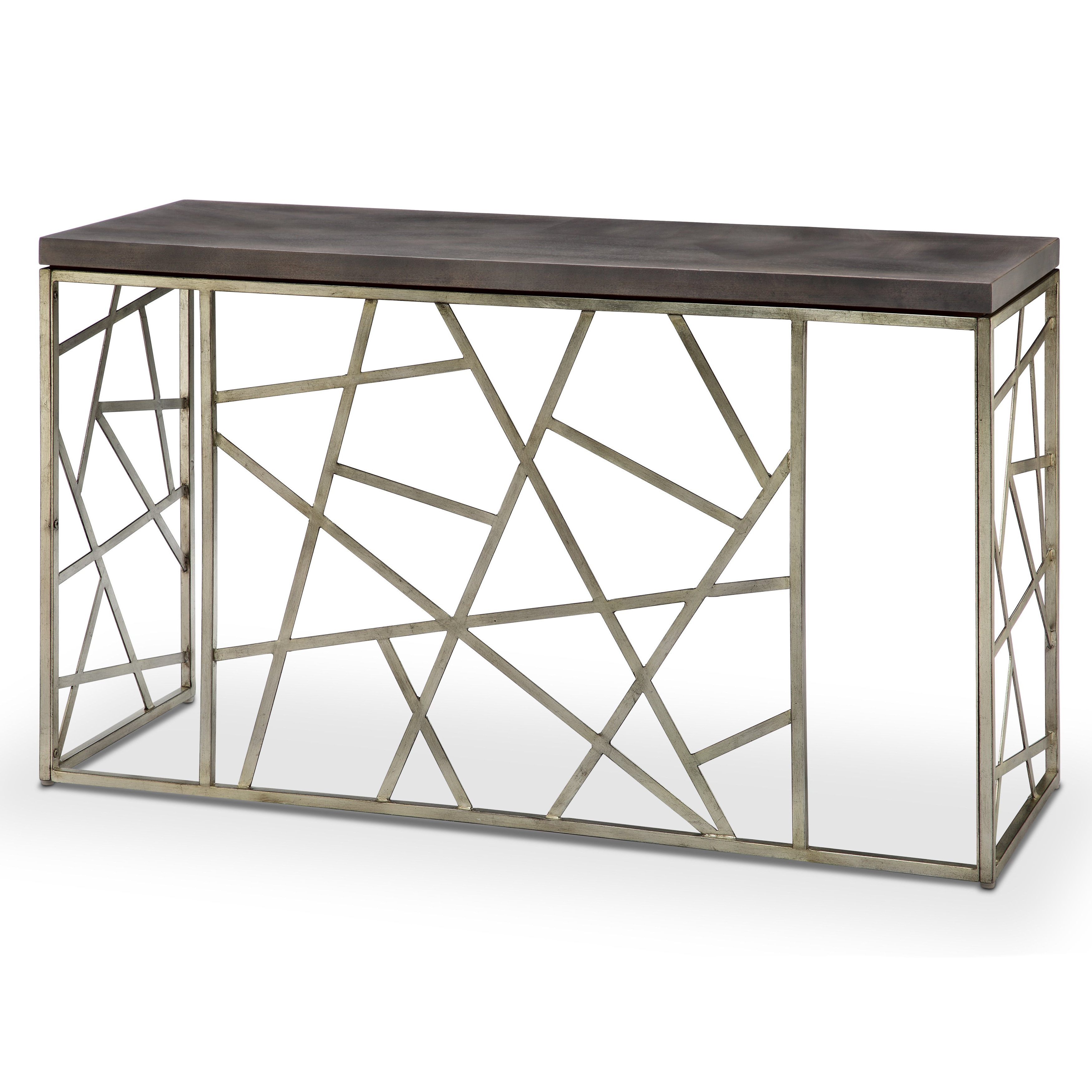 Famous Tribeca Contemporary Distressed Silver And Smoke Grey Coffee Tables Intended For Tribeca Contemporary Distressed Silver And Smoke Grey Entryway Table (View 6 of 20)
