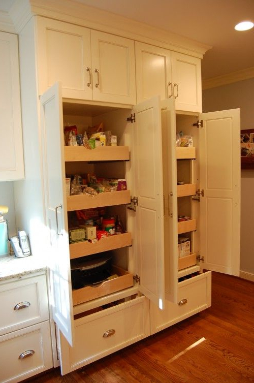 Farmhouse Kitchen Pantry Within Popular Sliding Pantry Shelves – What We Need For Our Super Deep Not (View 12 of 20)
