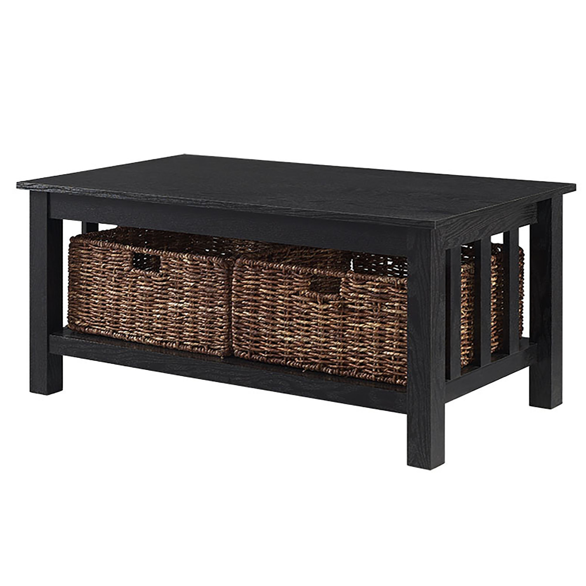 Farmhouse & Rustic Black Coffee Tables (View 16 of 20)
