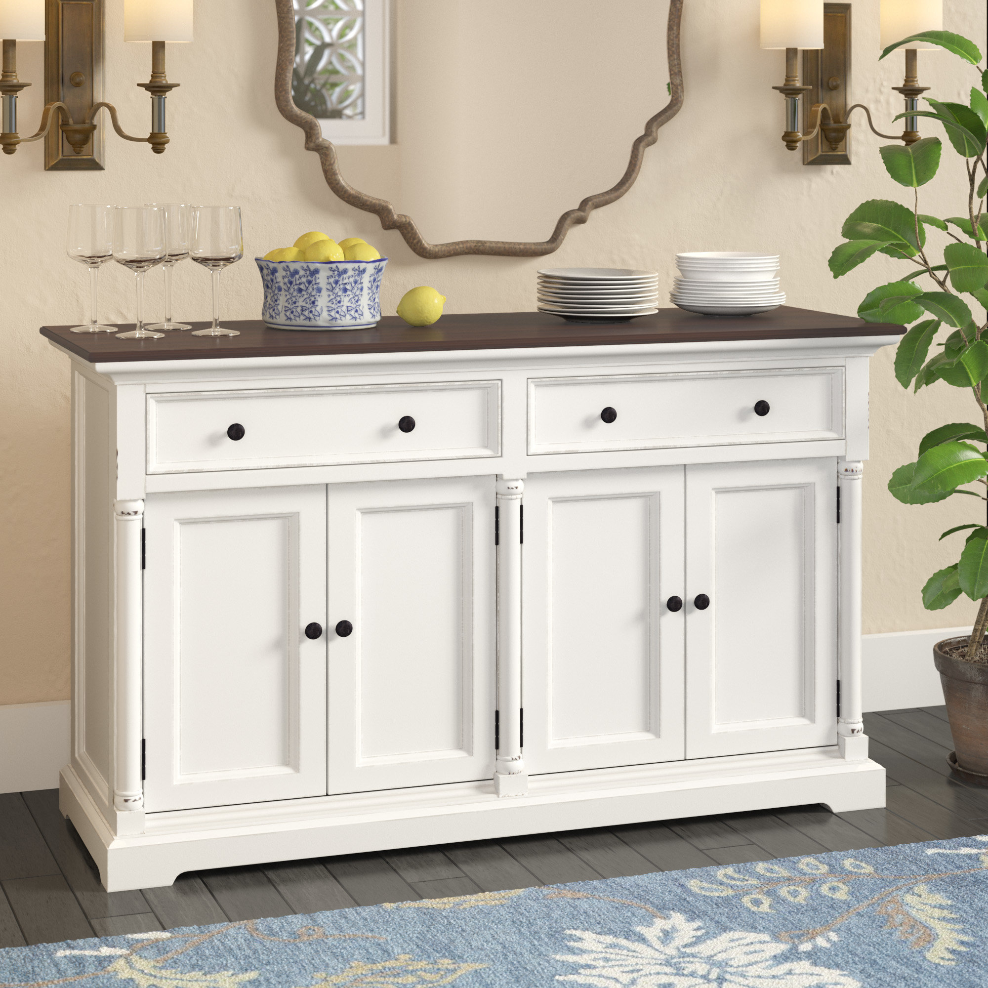Farmhouse & Rustic Darby Home Co Sideboards & Buffets Pertaining To Tilman Sideboards (View 18 of 20)