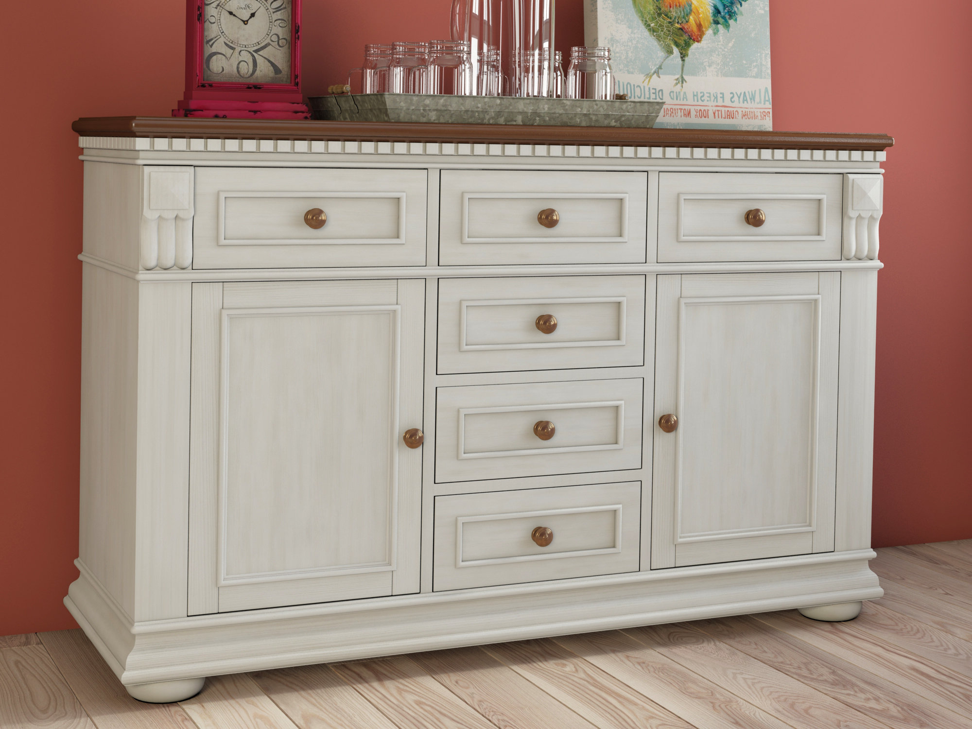 Farmhouse & Rustic Darby Home Co Sideboards & Buffets Throughout Phyllis Sideboards (View 18 of 20)