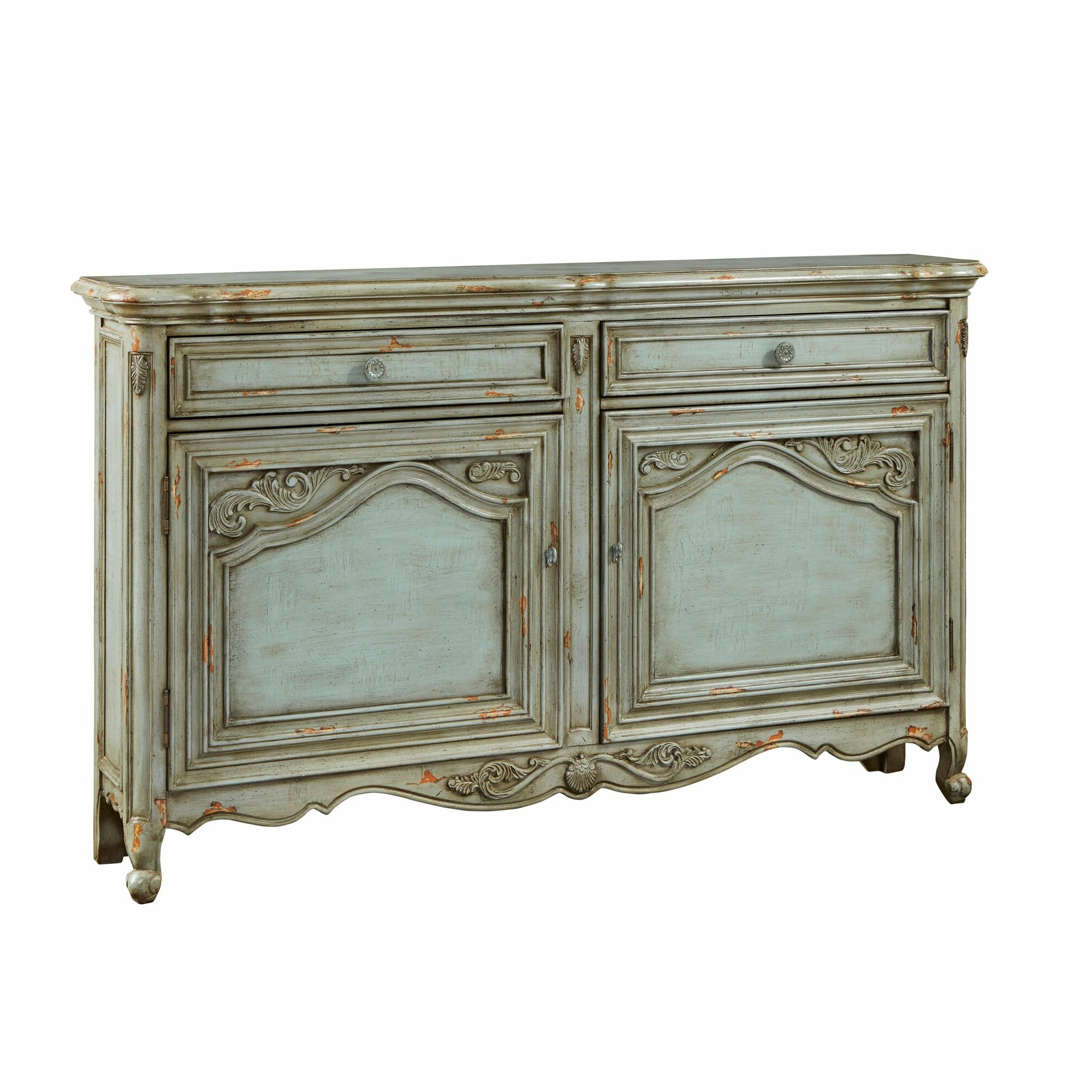 Farmhouse & Rustic Distressed Finish Sideboards & Buffets Regarding Chicoree Charlena Sideboards (View 7 of 20)