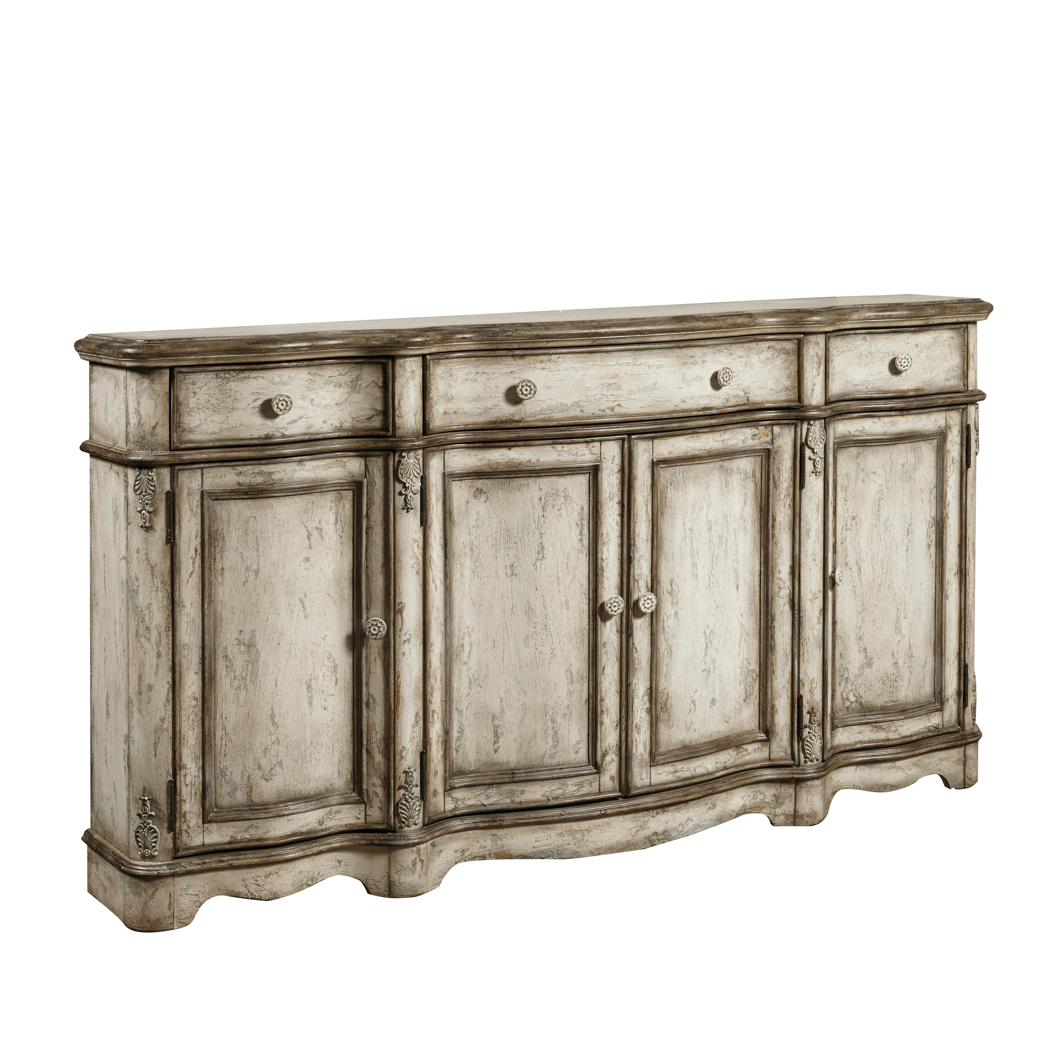 Farmhouse & Rustic Distressed Finish Sideboards & Buffets Within Papadopoulos Sideboards (View 10 of 20)