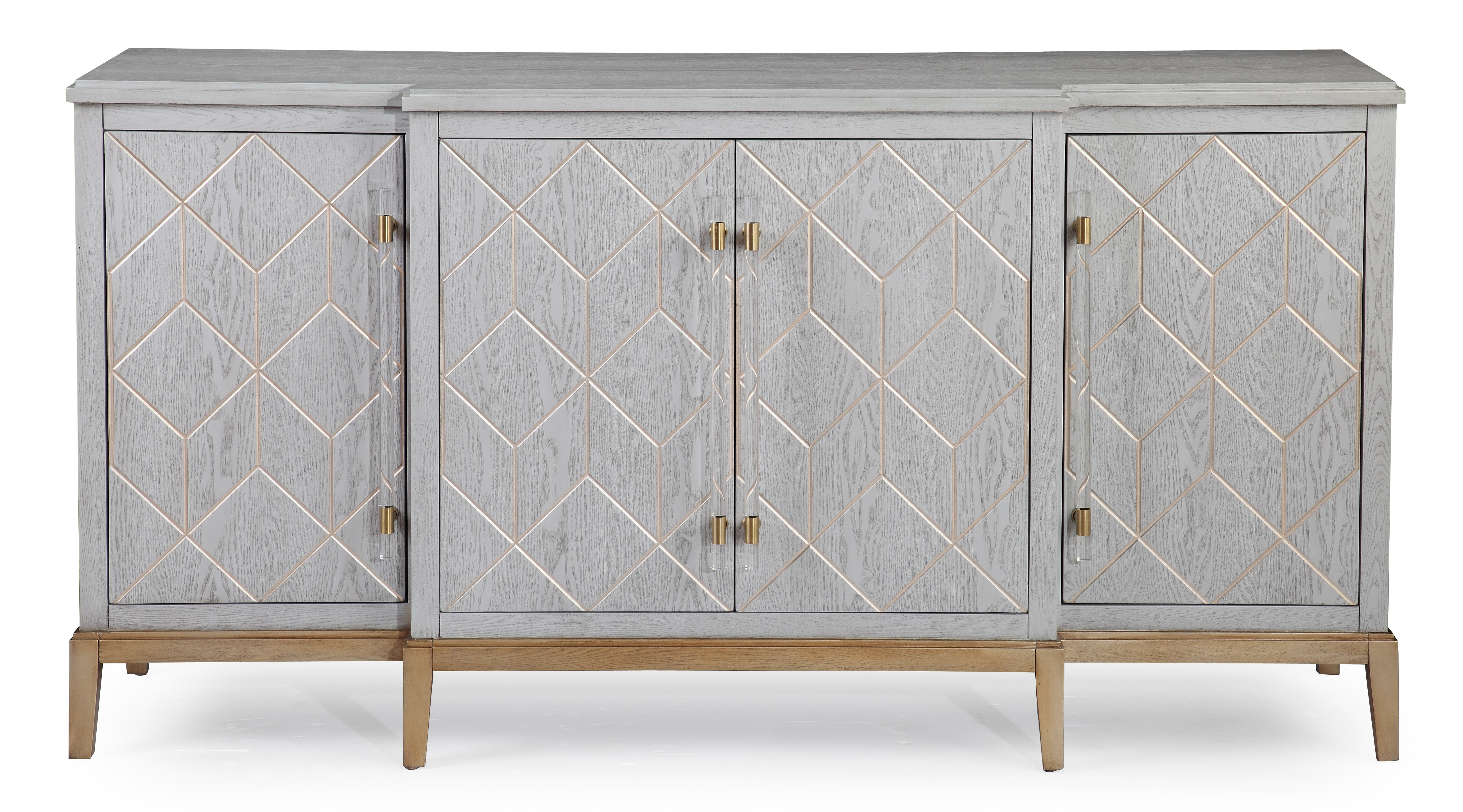 Farmhouse & Rustic Gray Wood Sideboards & Buffets | Birch Lane Intended For Candide Wood Credenzas (View 7 of 20)