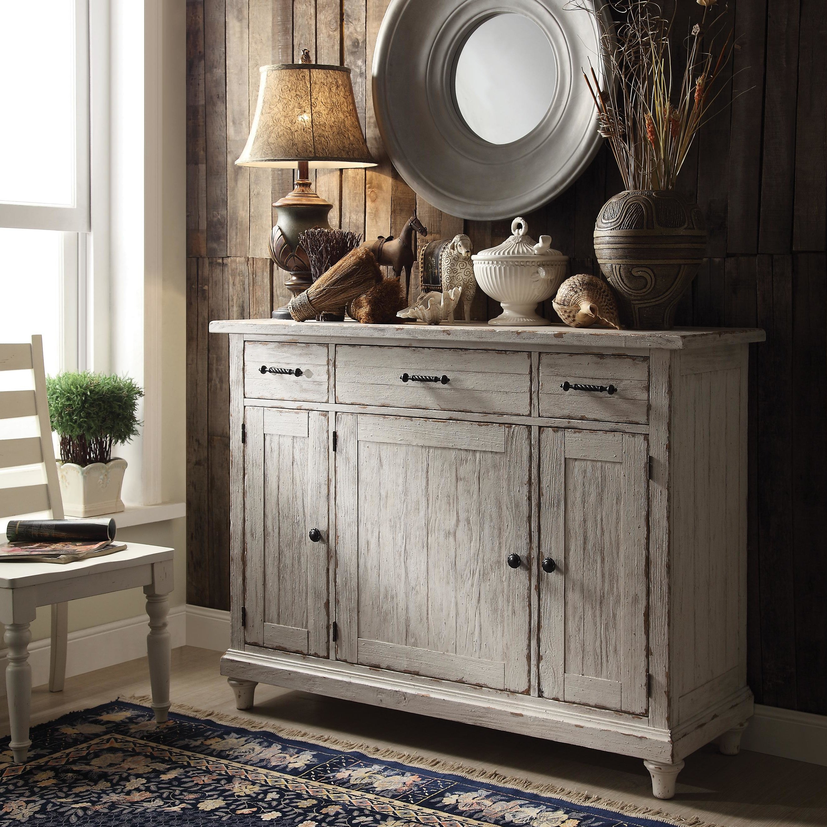 Farmhouse & Rustic Lark Manor Sideboards & Buffets | Birch Lane Intended For Ilyan Traditional Wood Sideboards (View 18 of 20)