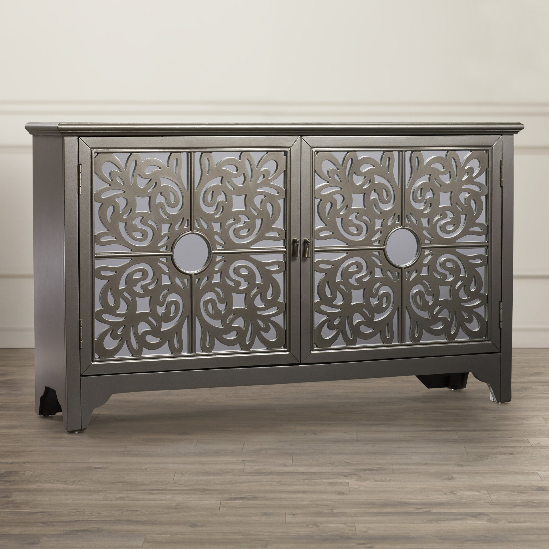 Farmhouse & Rustic Mirrored Sideboards & Buffets | Birch Lane Throughout Senda Credenzas (View 15 of 20)