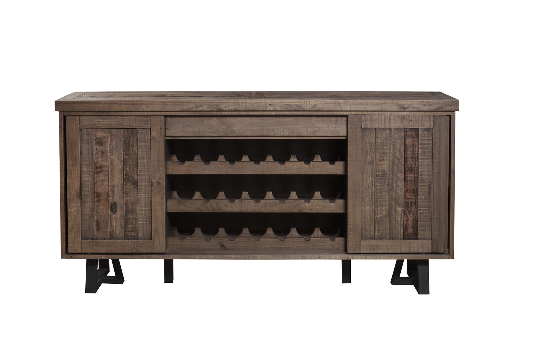 Farmhouse & Rustic Reclaimed Wood Sideboards & Buffets For Filkins Sideboards (View 6 of 20)