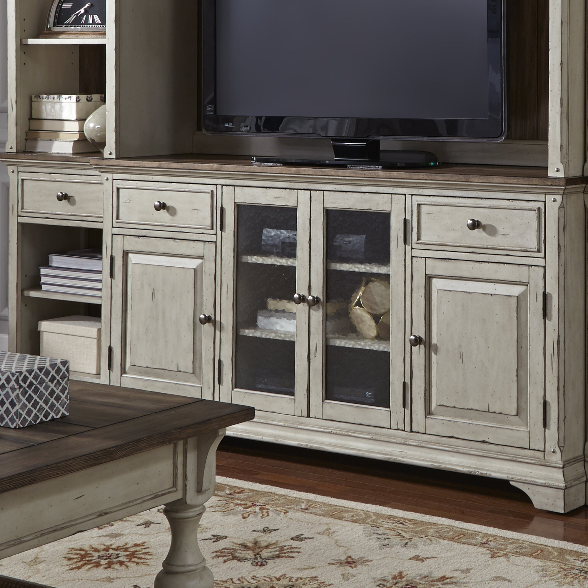 "Farmhouse & Rustic Rosecliff Heights Tv Stands | Birch Lane With Regard To Colefax Vintage Tv Stands For Tvs Up To 78"" (View 15 of 20)"