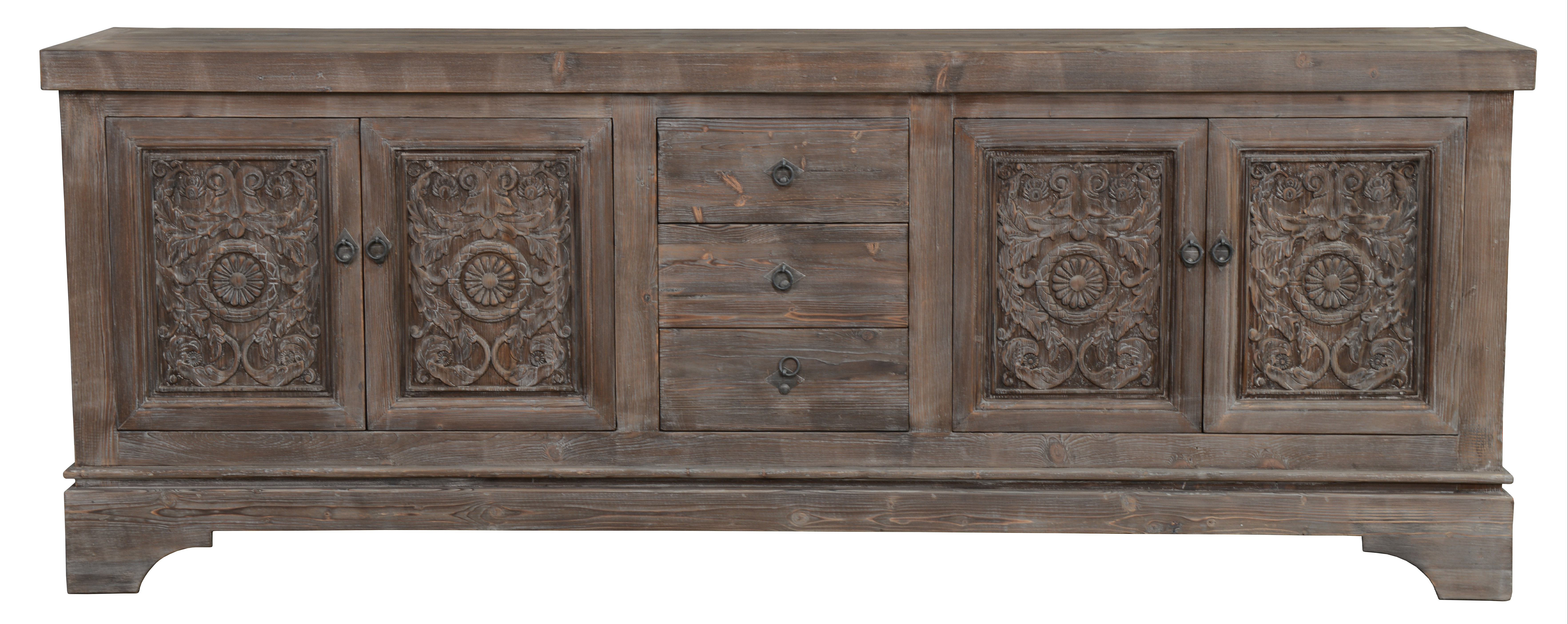 Farmhouse & Rustic Sideboards & Buffets | Birch Lane In Ilyan Traditional Wood Sideboards (View 13 of 20)