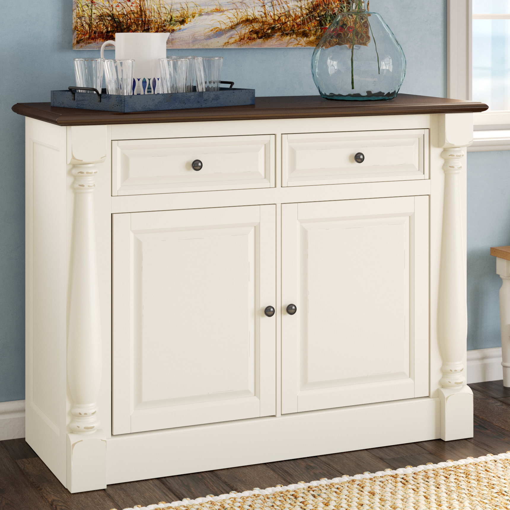 Farmhouse & Rustic Sideboards & Buffets | Birch Lane Throughout Elyza Credenzas (View 14 of 20)