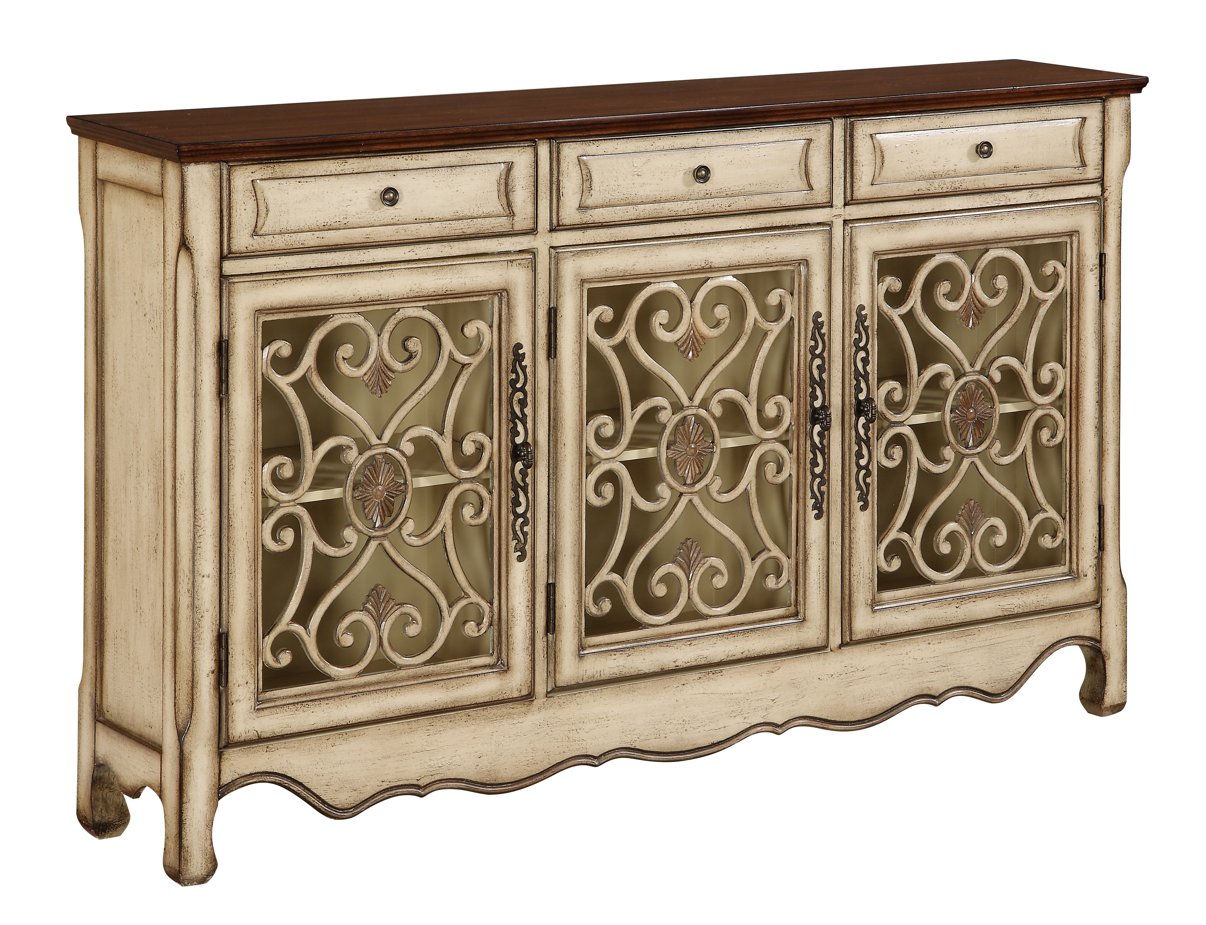 Farmhouse & Rustic Sideboards & Buffets | Birch Lane Within Ilyan Traditional Wood Sideboards (View 9 of 20)