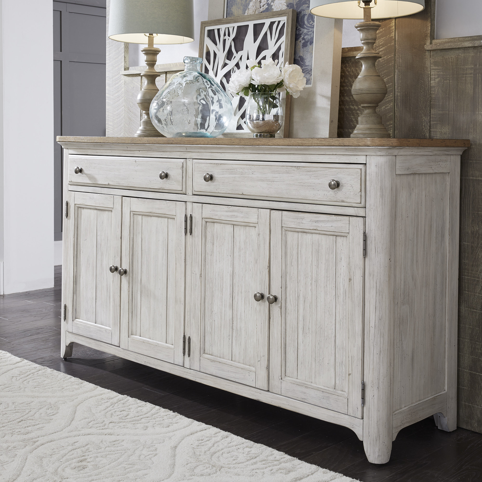Farmhouse & Rustic Silverware Storage Equipped Sideboards Inside Payton Serving Sideboards (View 6 of 20)