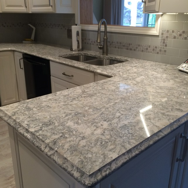 Fashionable Cambria Quartz Berwyn On White Cabinets – Traditional With Regard To Berwyn Kitchen Pantry (View 17 of 20)