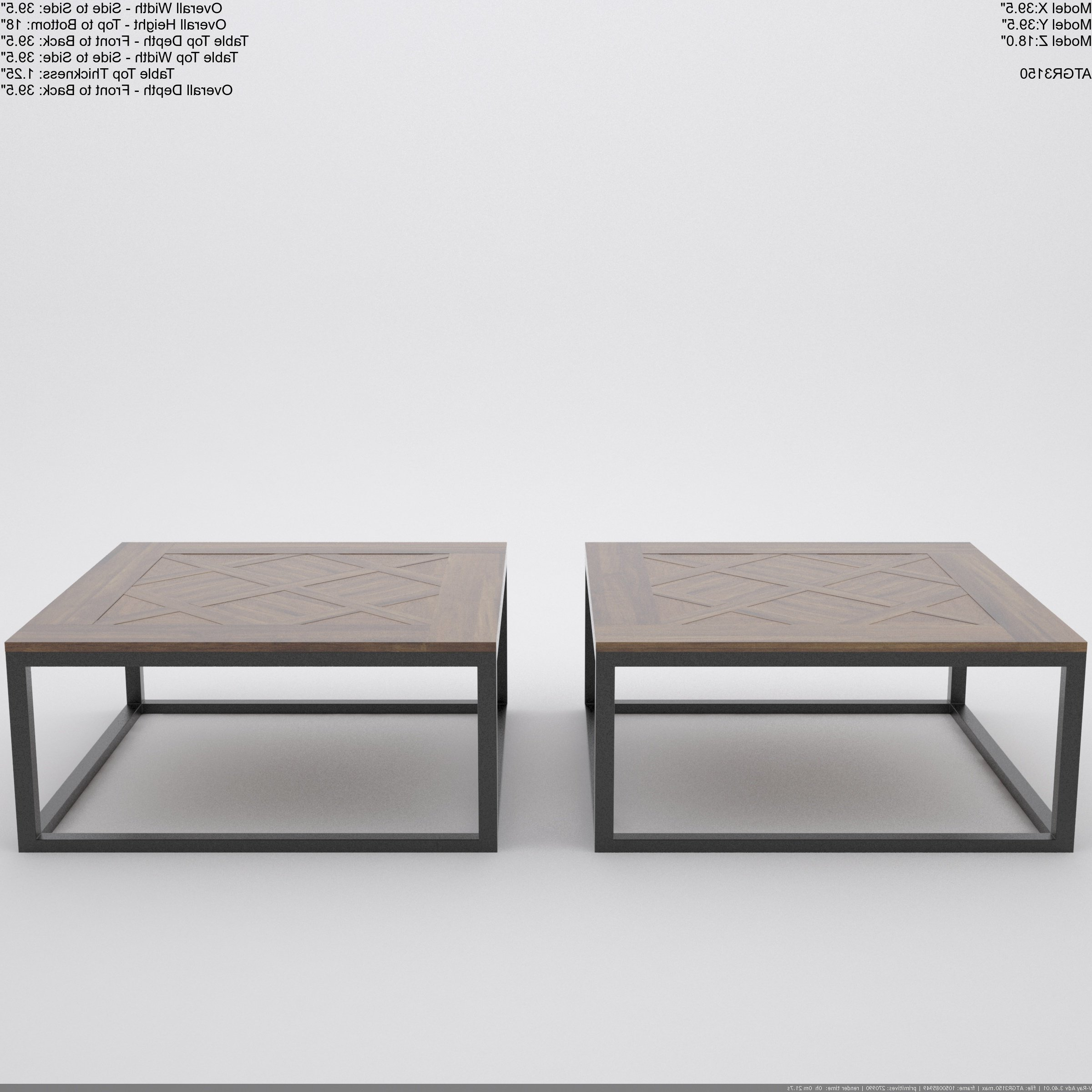 Fashionable Finbar Modern Rectangle Glass Coffee Tables Pertaining To Reclaimed Wood Square Coffee Tables You'll Love In  (View 8 of 20)