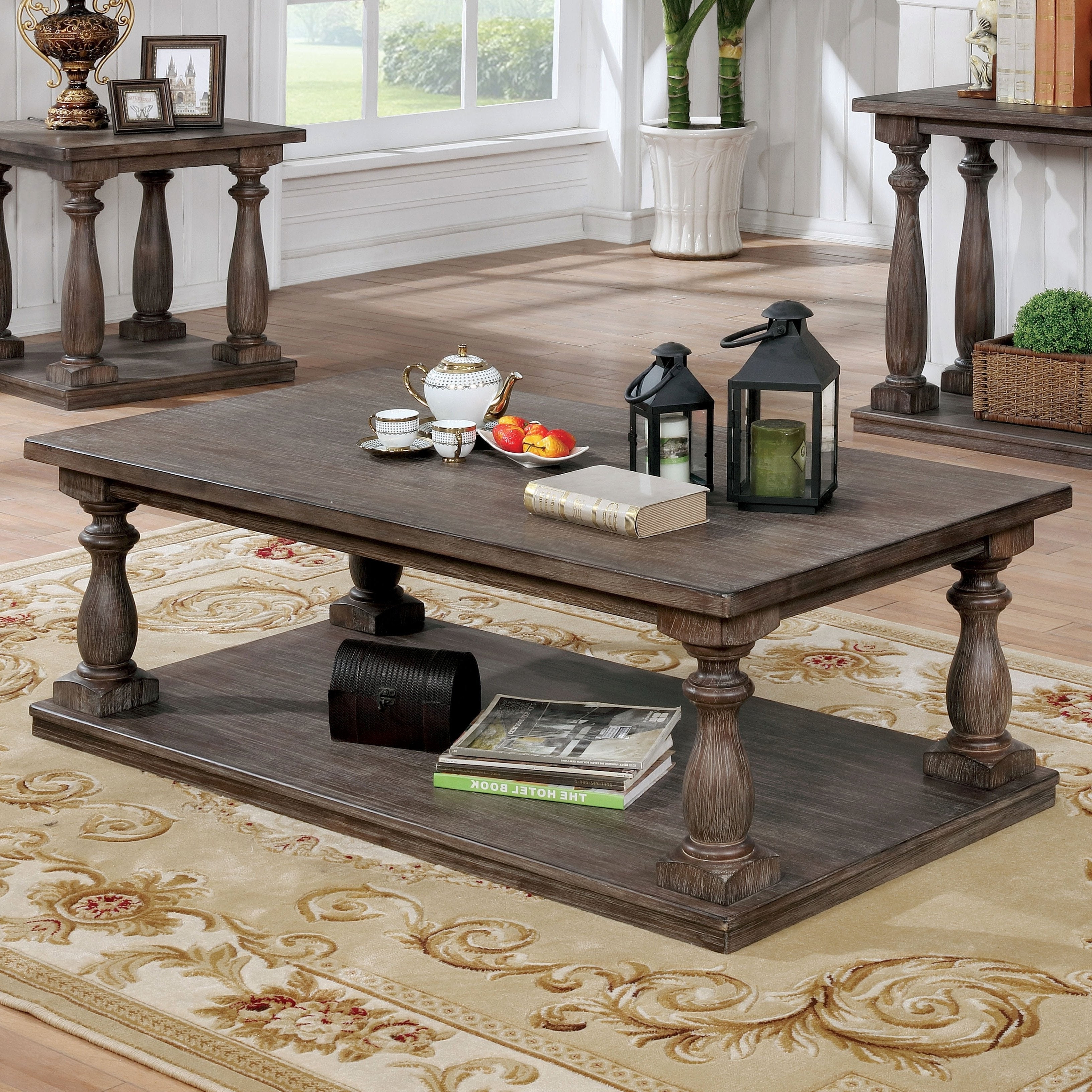 Fashionable Jessa Rustic Country 54 Inch Coffee Tables Within Jessa Rustic Country 54 Inch Coffee Tablefoa (View 2 of 20)