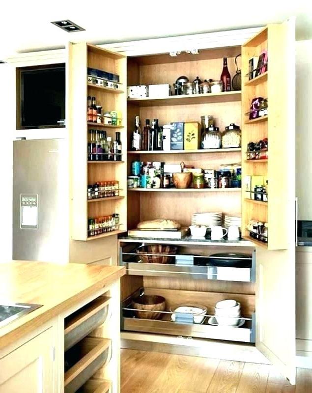Fashionable White Kitchen Storage Cabinets – Haroline (View 7 of 20)