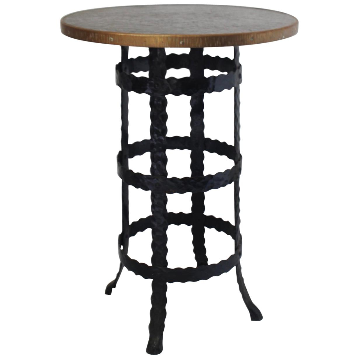 Favorite Burnham Reclaimed Wood And Iron Round Coffee Tables Regarding Wrought Iron And Wood Coffee Table – Andrewab.co (View 13 of 20)
