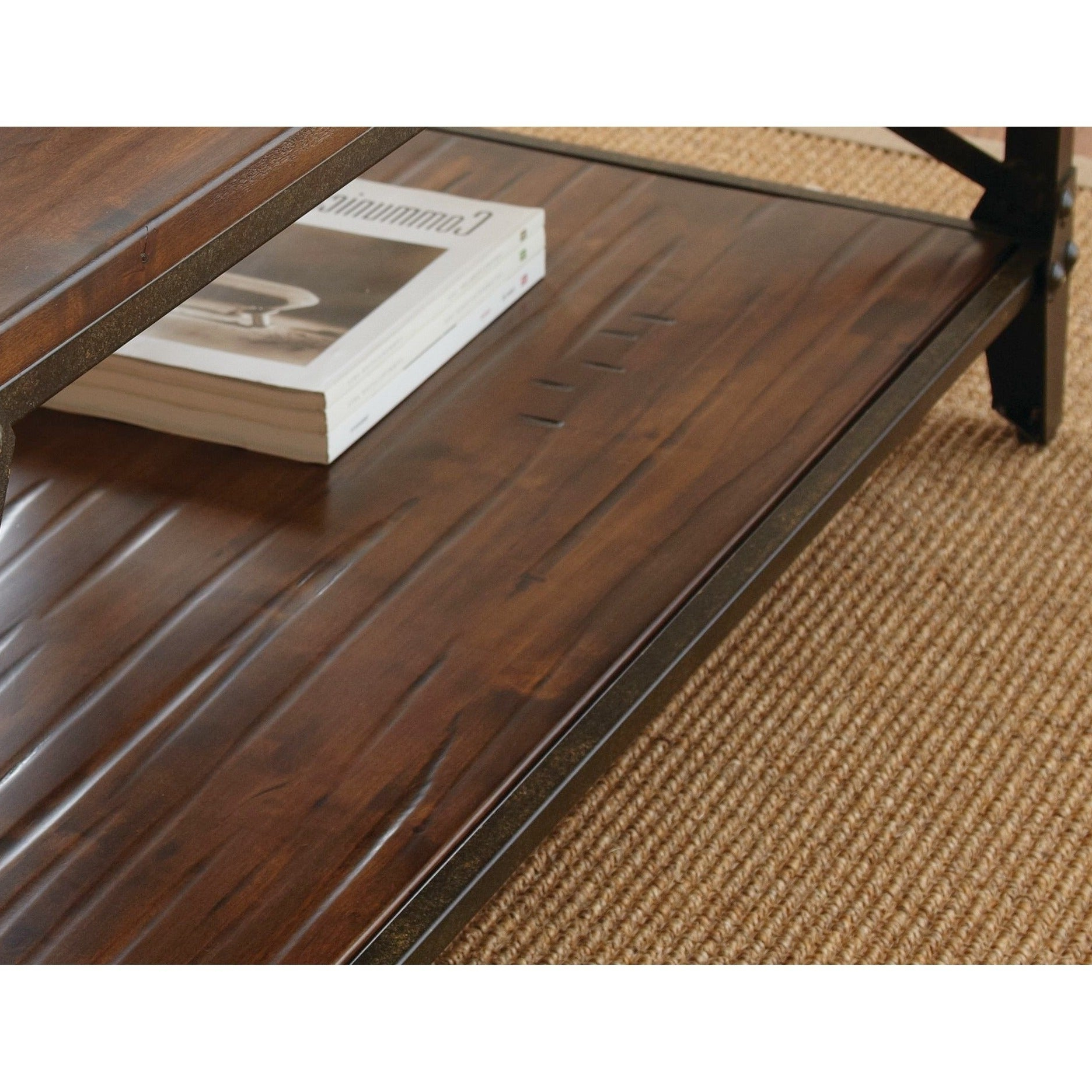 Favorite Carbon Loft Fischer Brown Solid Birch And Iron Rustic Coffee Tables Within Carbon Loft Fischer Brown Solid Birch And Iron Rustic Coffee Table (View 9 of 20)