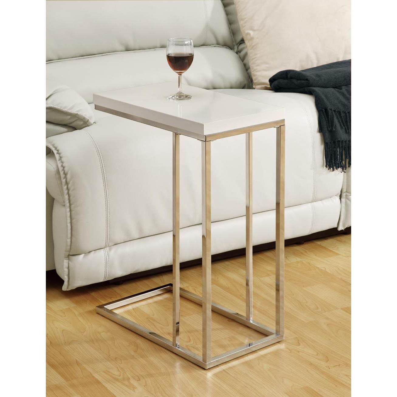 Favorite Glossy White Hollow Core Tempered Glass Cocktail Tables Inside Combine Modern Style And Functionality With This White Metal (View 12 of 20)