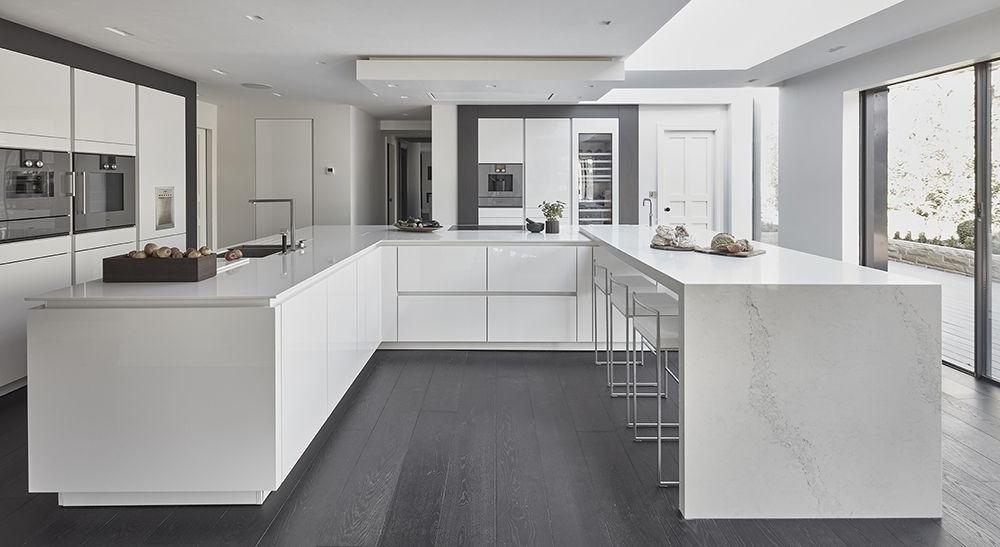 Favorite Siematic S2 Kitchen In Lotus White With Gaggenau 200 Series Inside Lotus Kitchen Pantry (View 11 of 20)