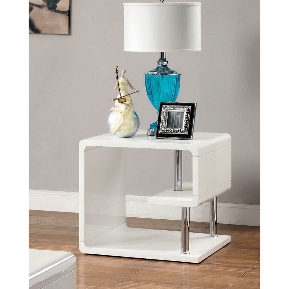 Favorite Strick & Bolton Sylvia Geometric High Gloss Coffee Tables Intended For Strick & Bolton Sylvia Geometric High Gloss End Table (View 5 of 20)