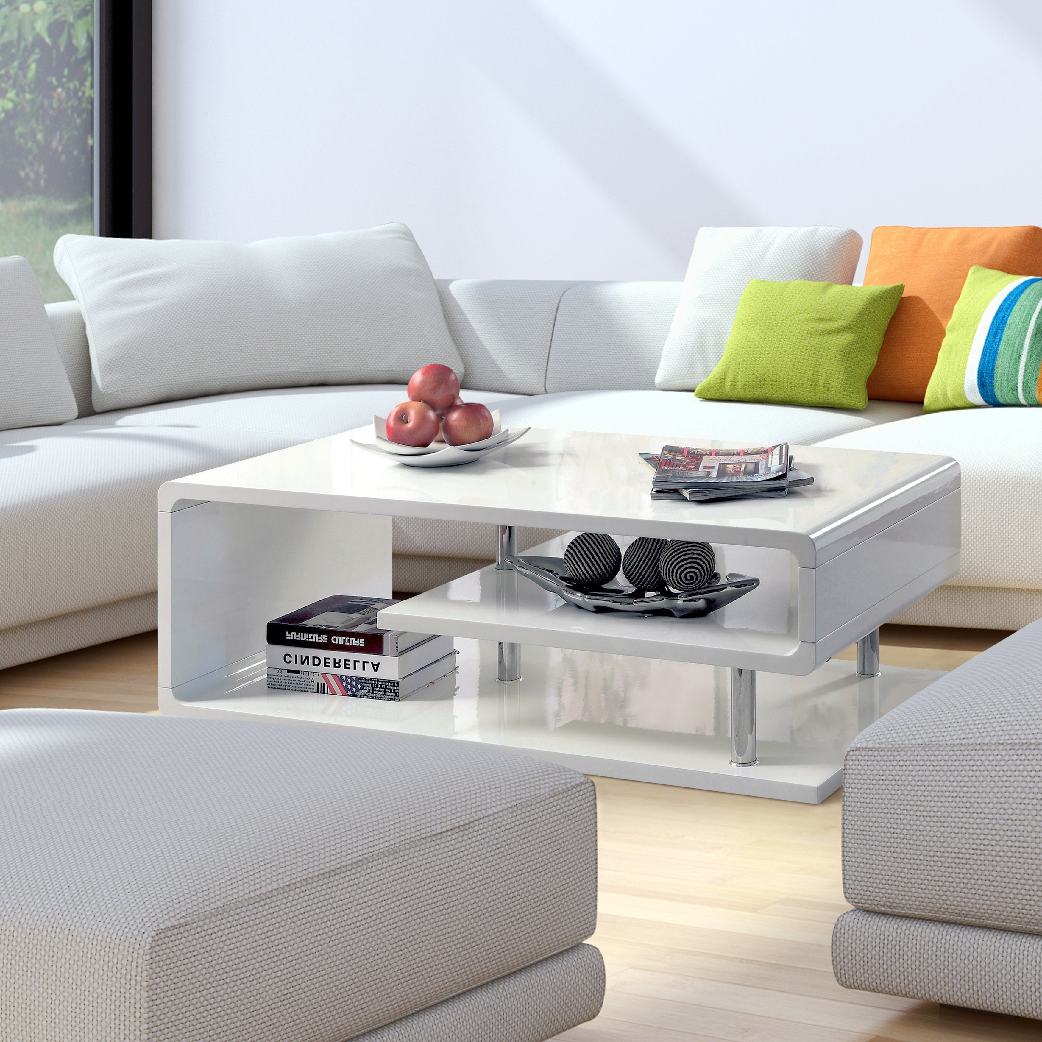 Featured Photo of Strick & Bolton Sylvia Geometric High Gloss Coffee Tables