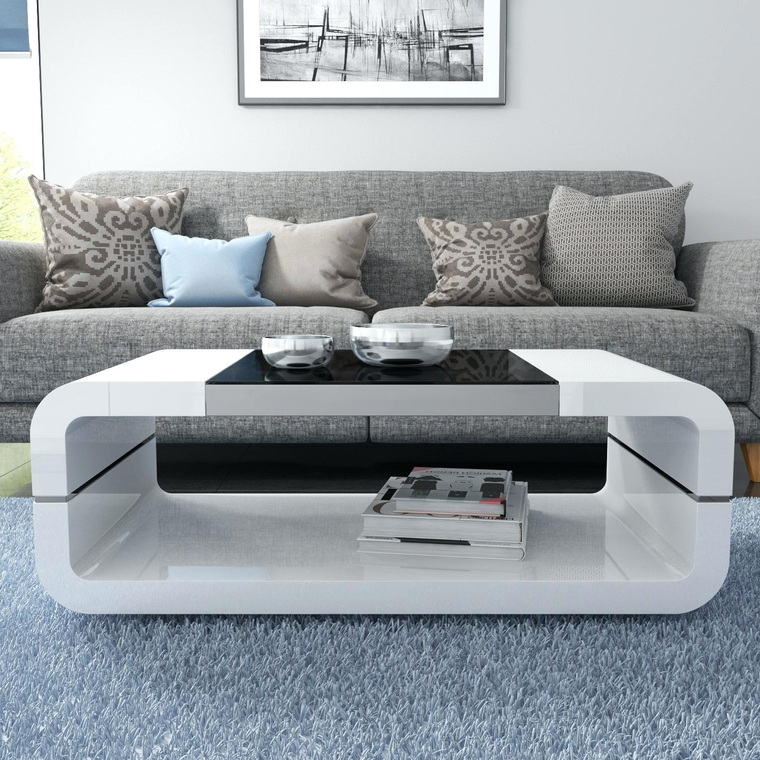 Favorite Strick & Bolton Sylvia Geometric High Gloss Coffee Tables Throughout High Gloss Black Coffee Table – Happyacademy (View 10 of 20)